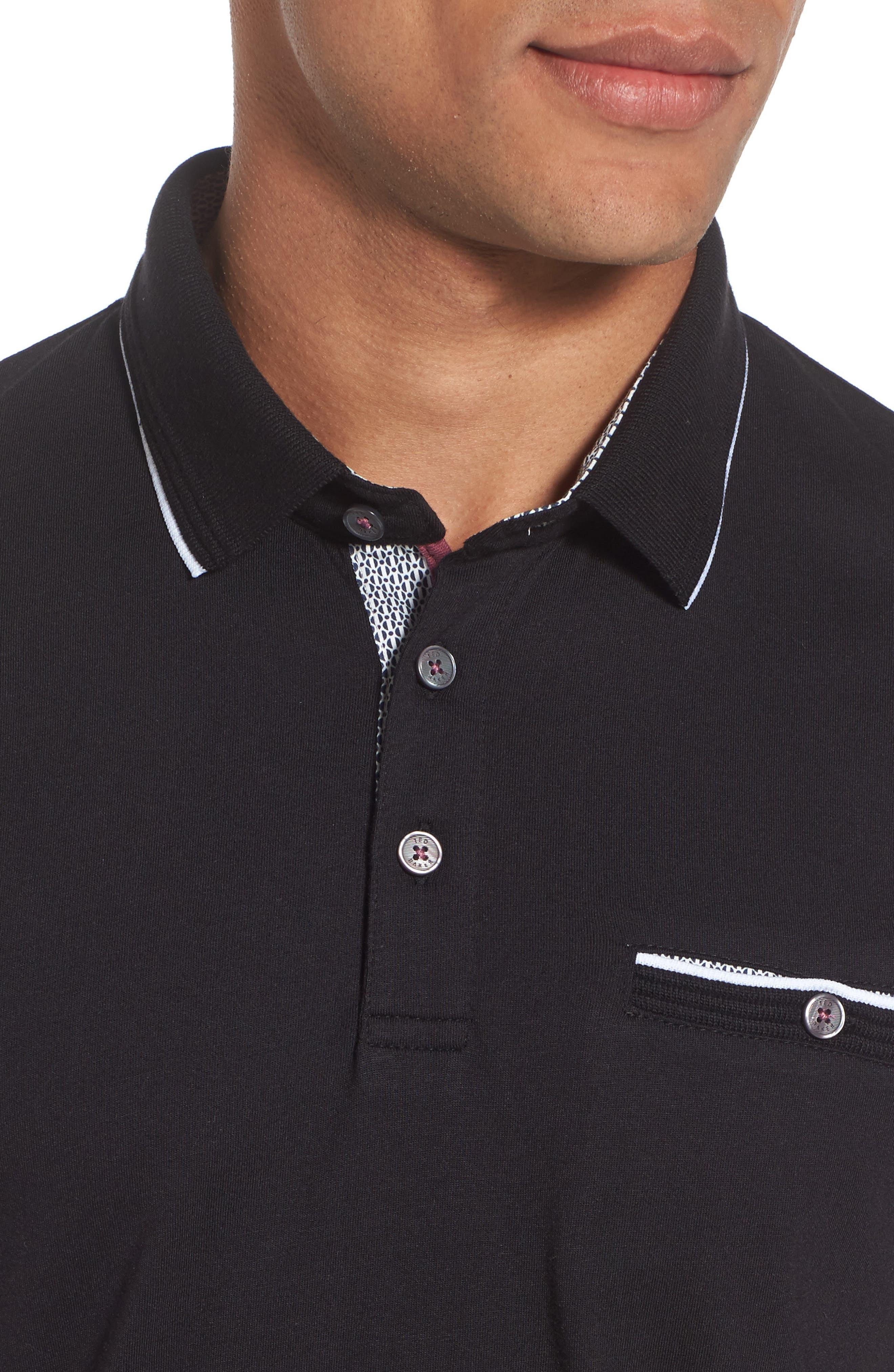 Derrytt Jersey Polo,                             Alternate thumbnail 4, color,                             001