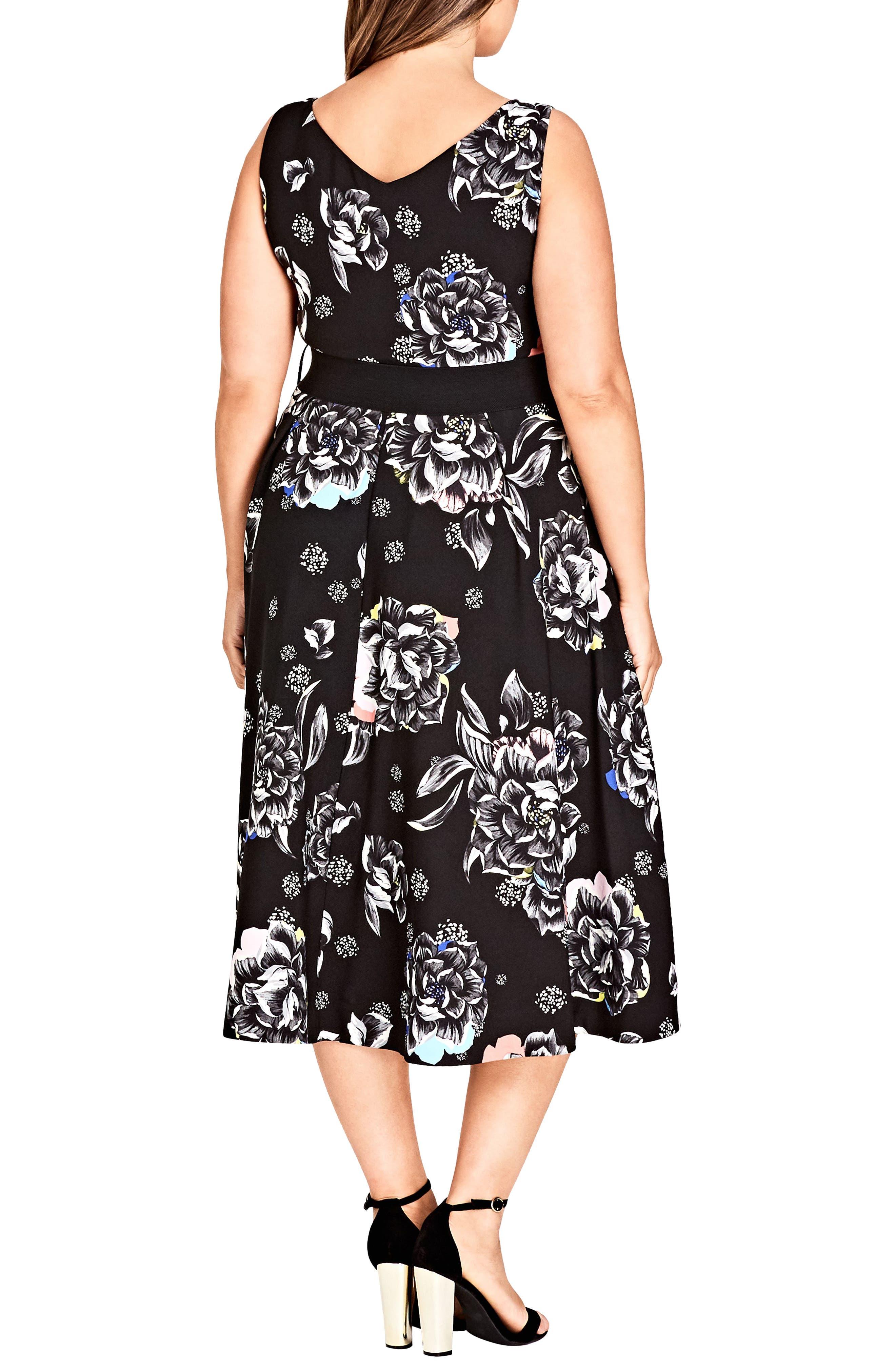 Flower Power Dress,                             Alternate thumbnail 2, color,                             001