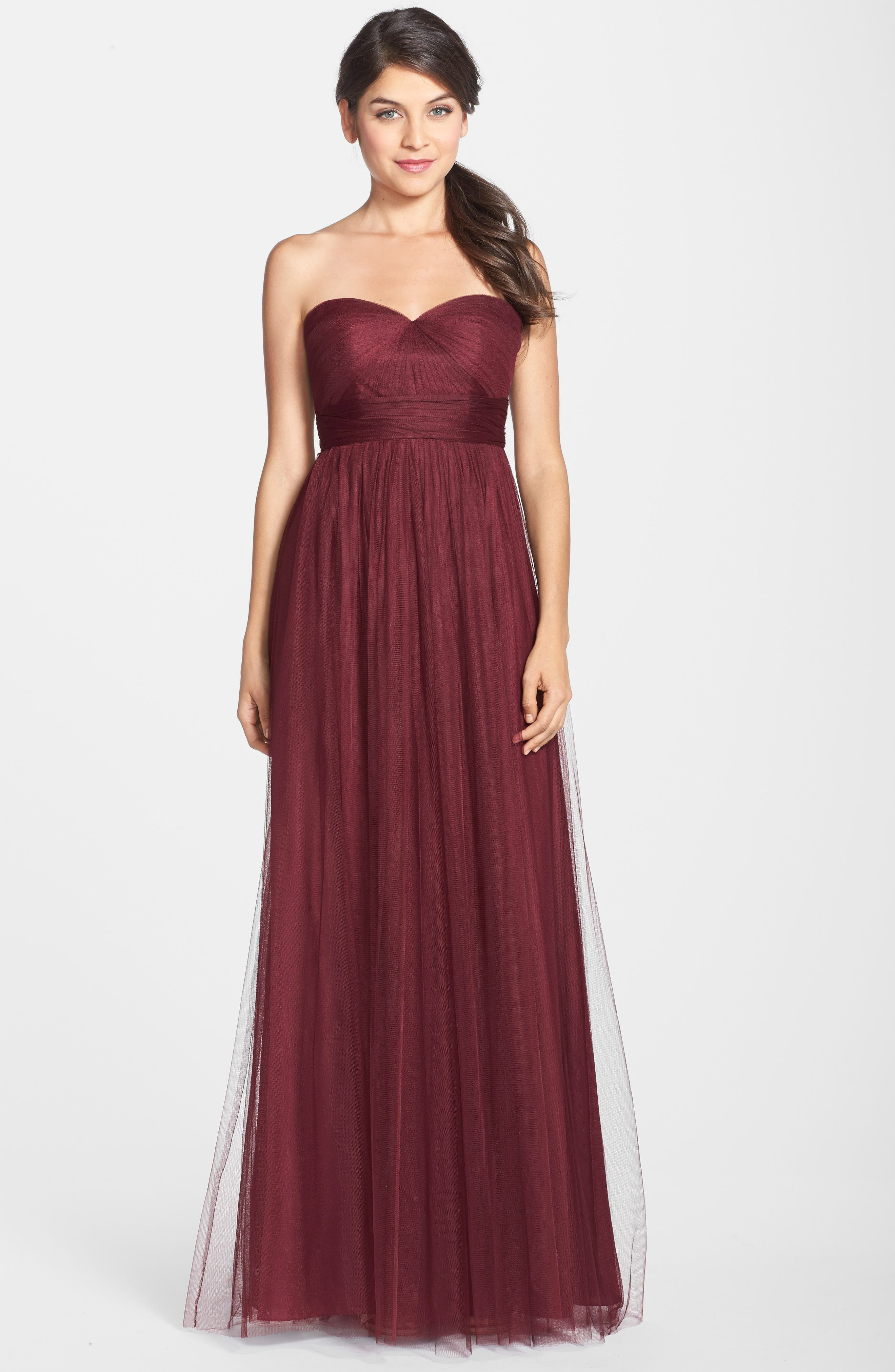 Annabelle Convertible Tulle Column Dress,                             Alternate thumbnail 73, color,