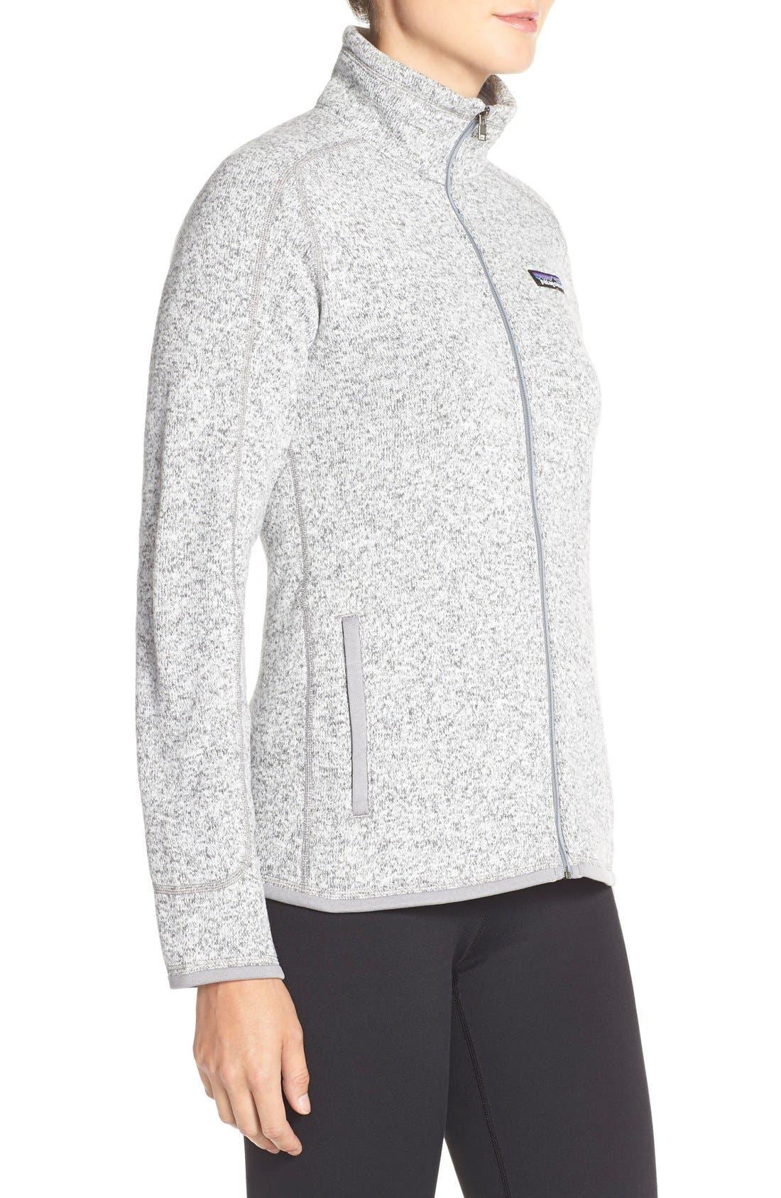 'BetterSweater' Jacket,                             Alternate thumbnail 6, color,                             BIRCH WHITE