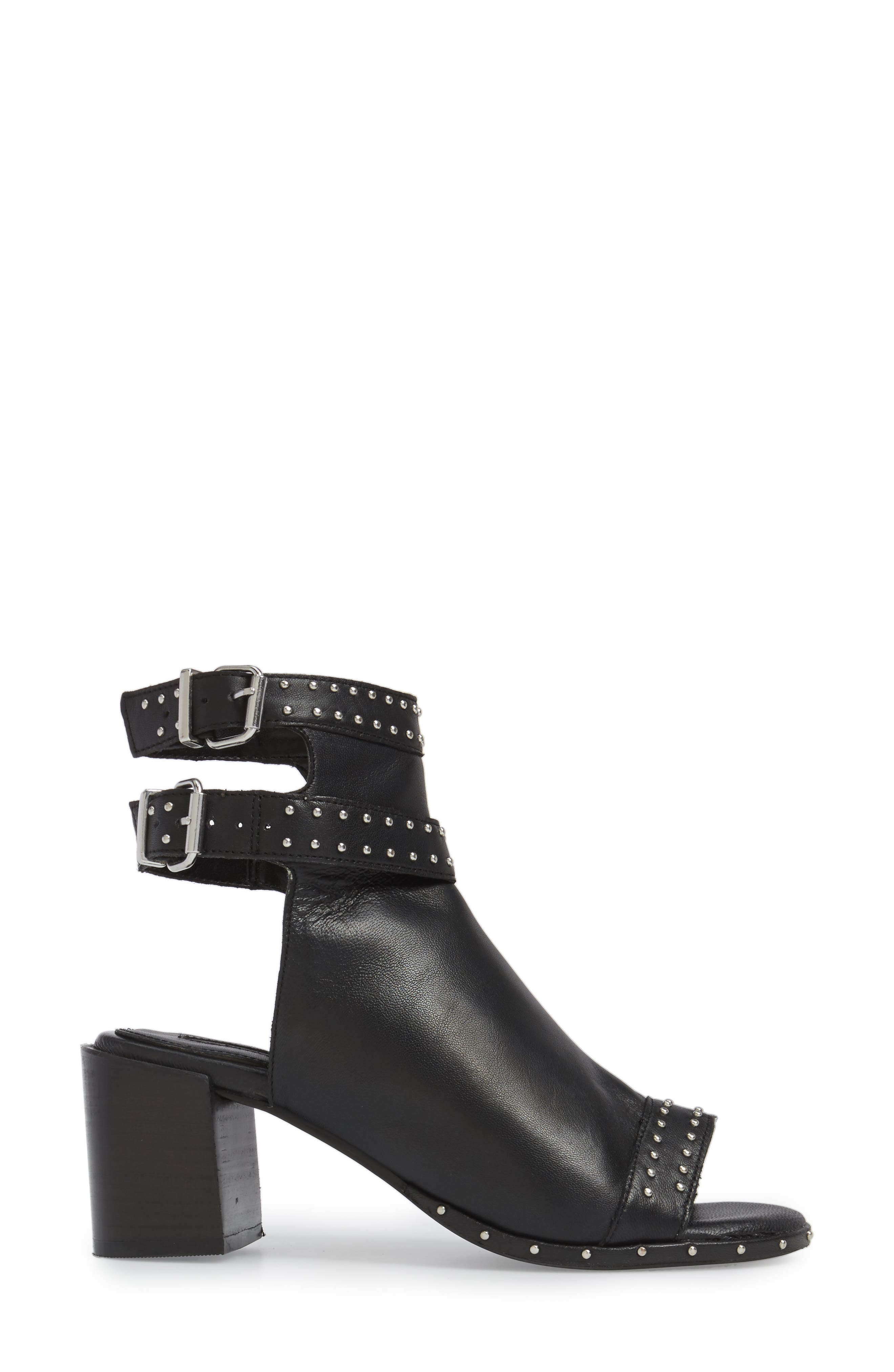 North Studded Bootie Sandal,                             Alternate thumbnail 3, color,                             001