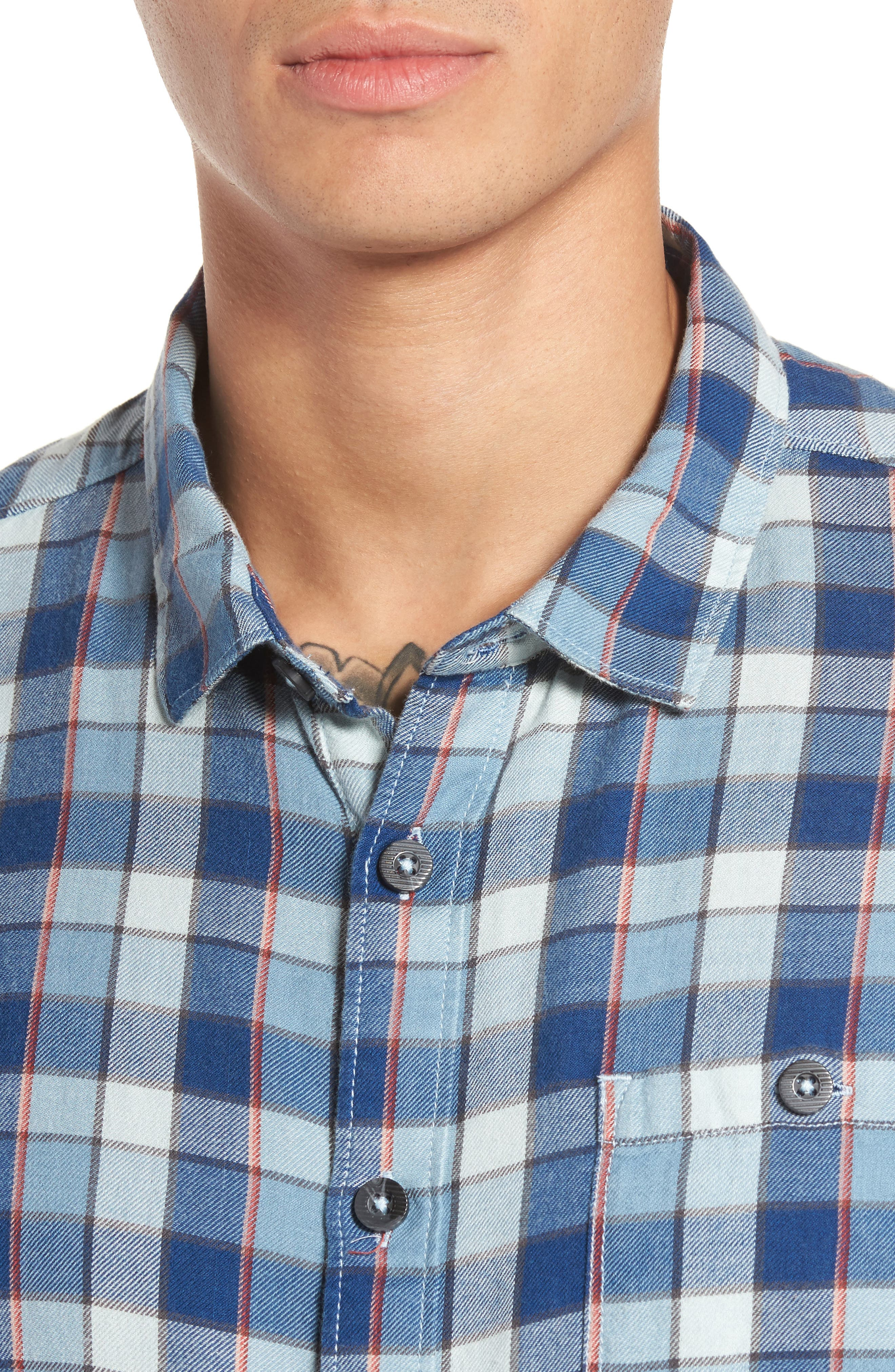 Bilabong Freemont Flannel Shirt,                             Alternate thumbnail 4, color,                             428