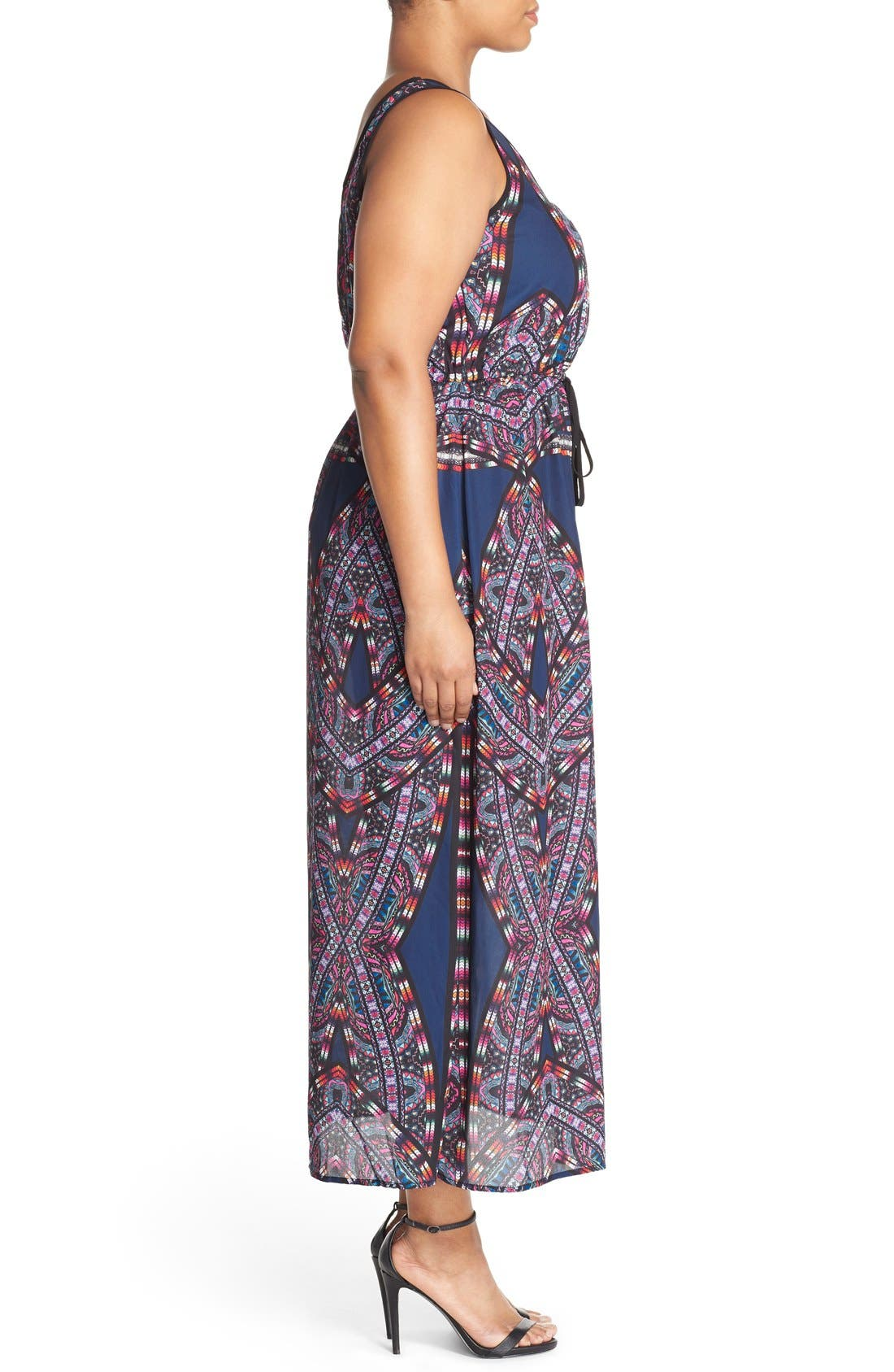 'Biba' Drawstring Maxi Dress,                             Alternate thumbnail 6, color,