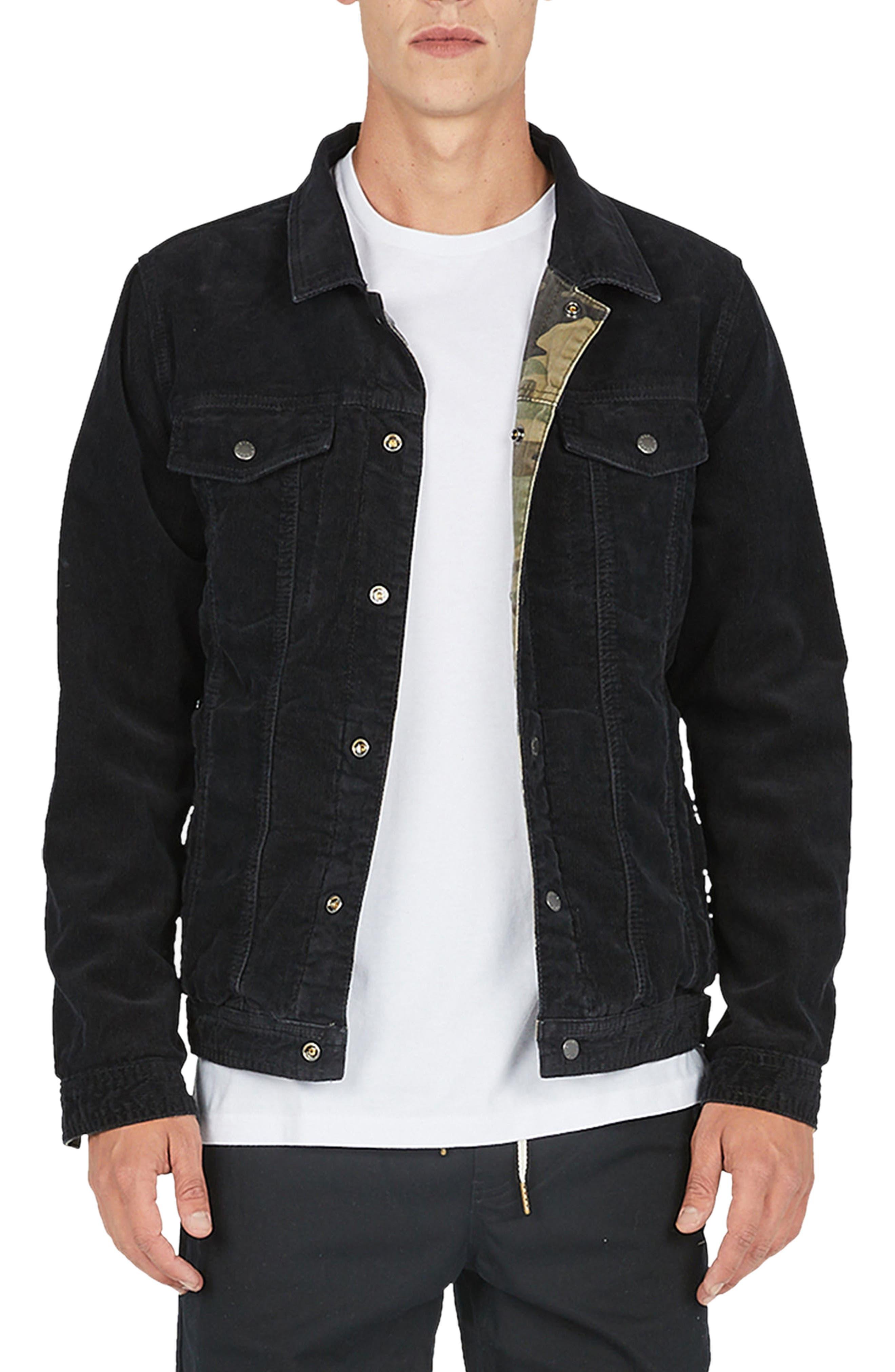 Reversible Denim Jacket,                         Main,                         color, 001