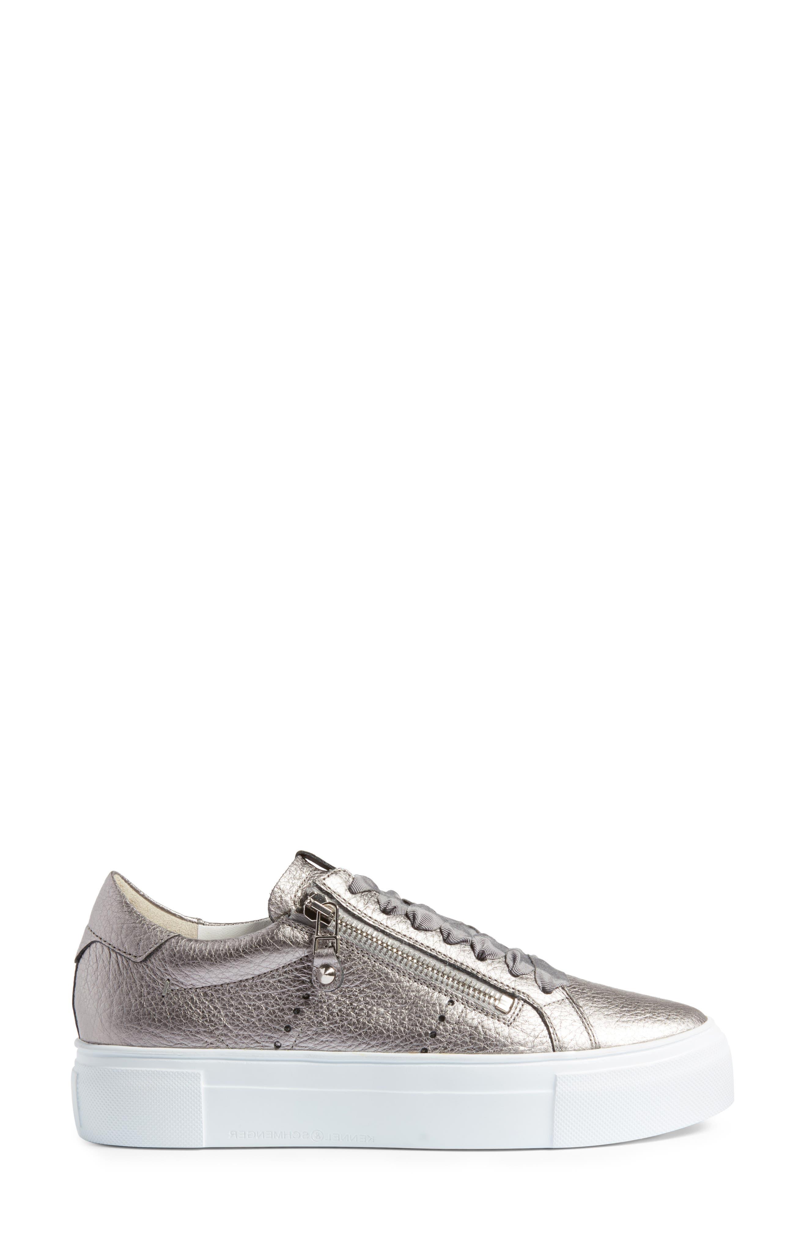 Kennel & Schmenger Big Low Top Platform Sneaker,                             Alternate thumbnail 3, color,                             020