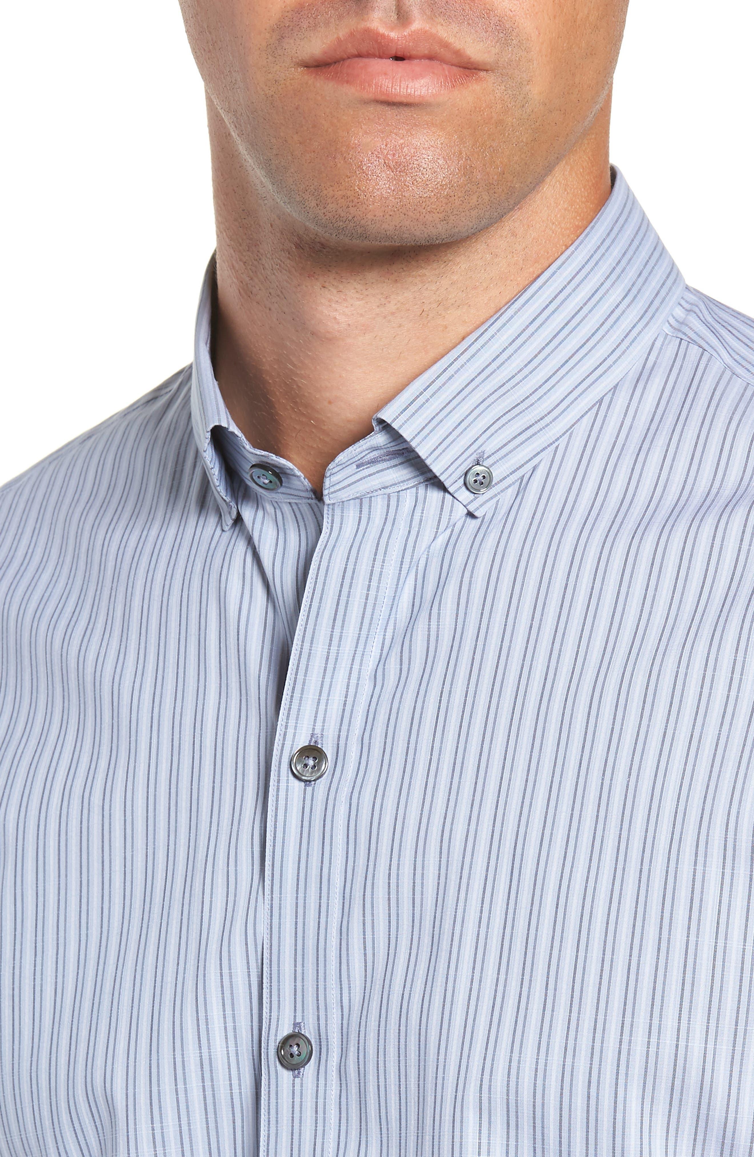Vinnie Regular Fit Stripe Sport Shirt,                             Alternate thumbnail 2, color,                             SLATE