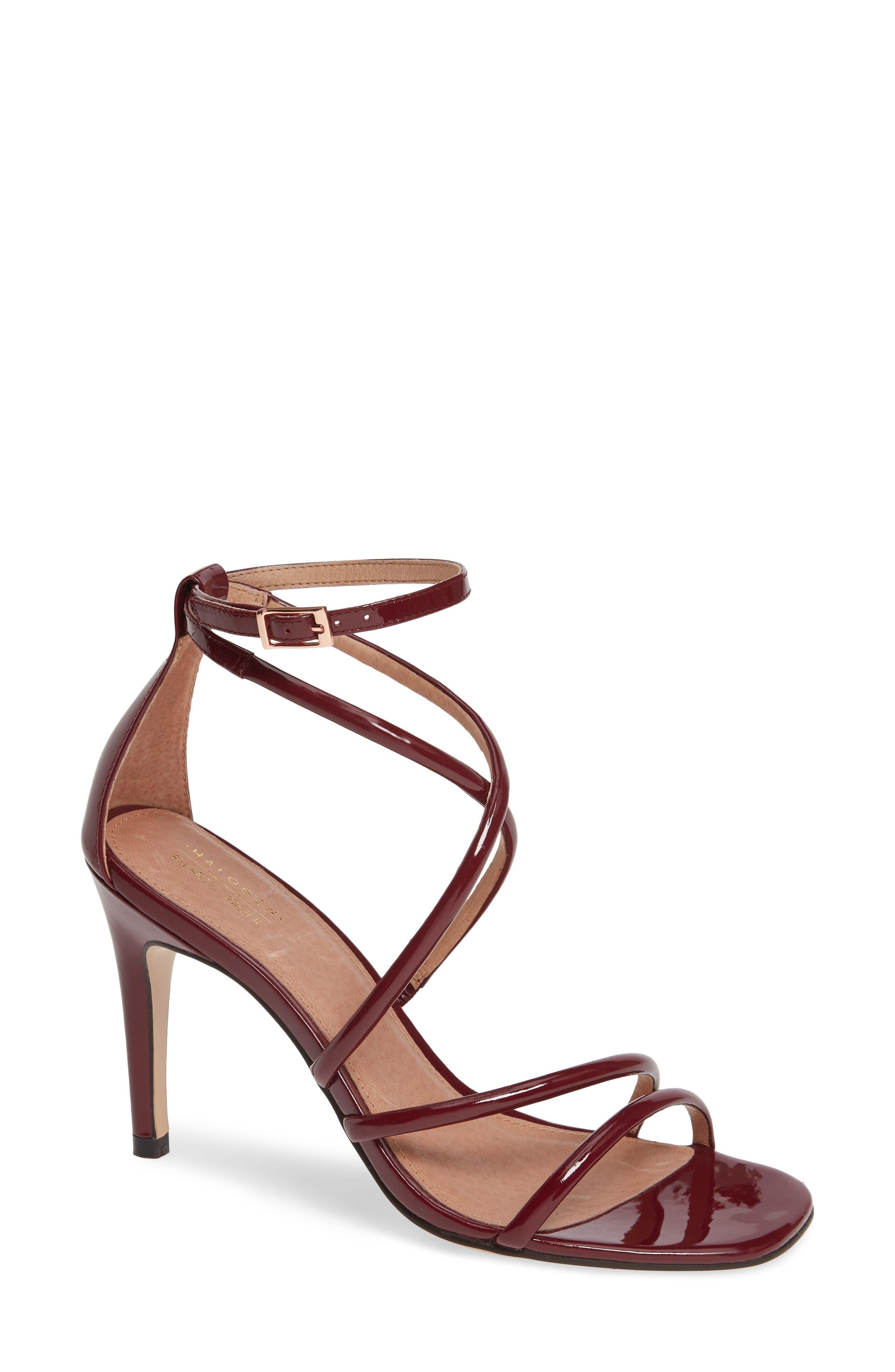 x Atlantic-Pacific Violetta Multi Strap Sandal,                         Main,                         color, MERLOT PATENT
