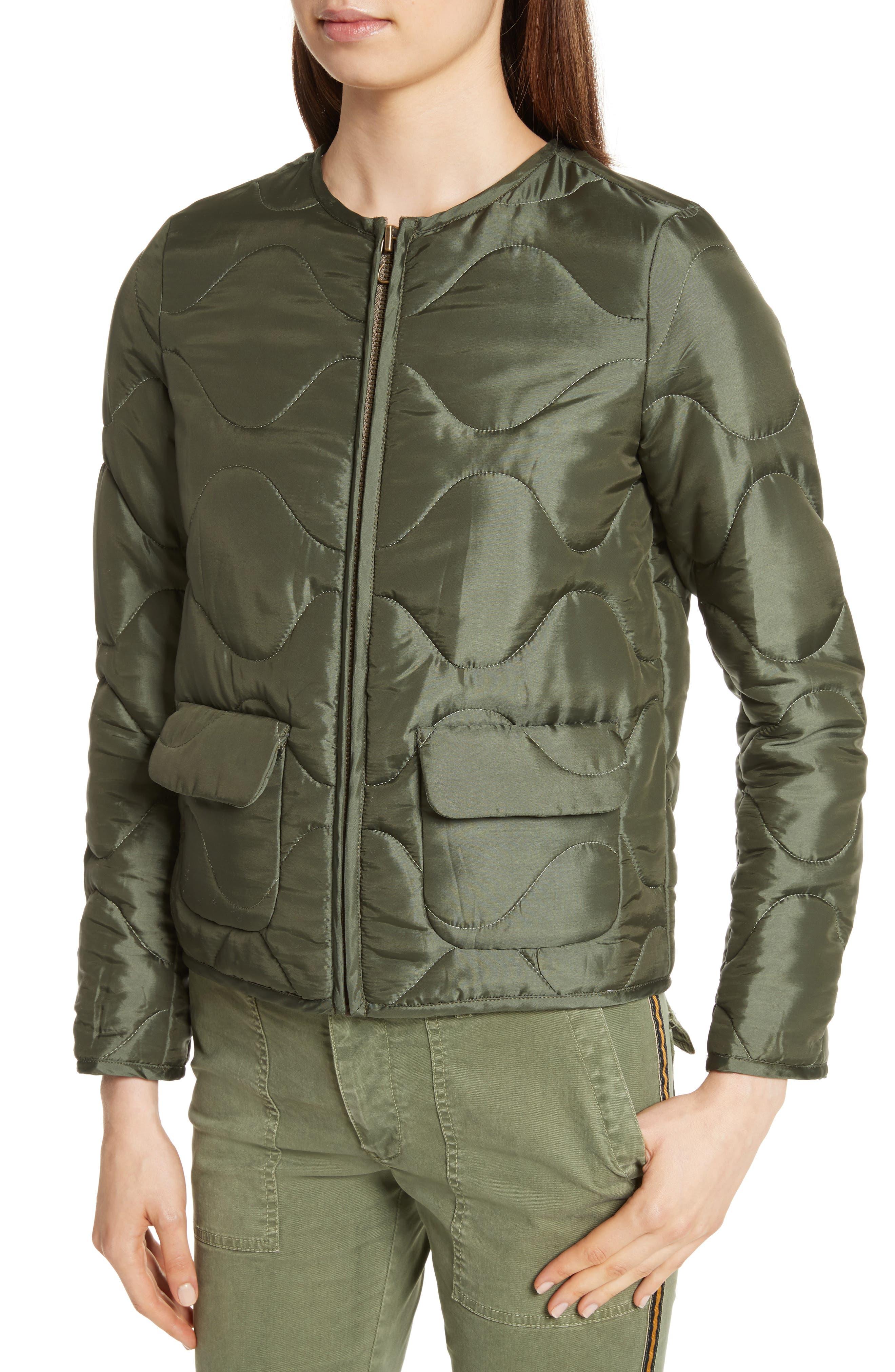 Alvy Faux Fur Collar Quilted Coat,                             Alternate thumbnail 4, color,                             310
