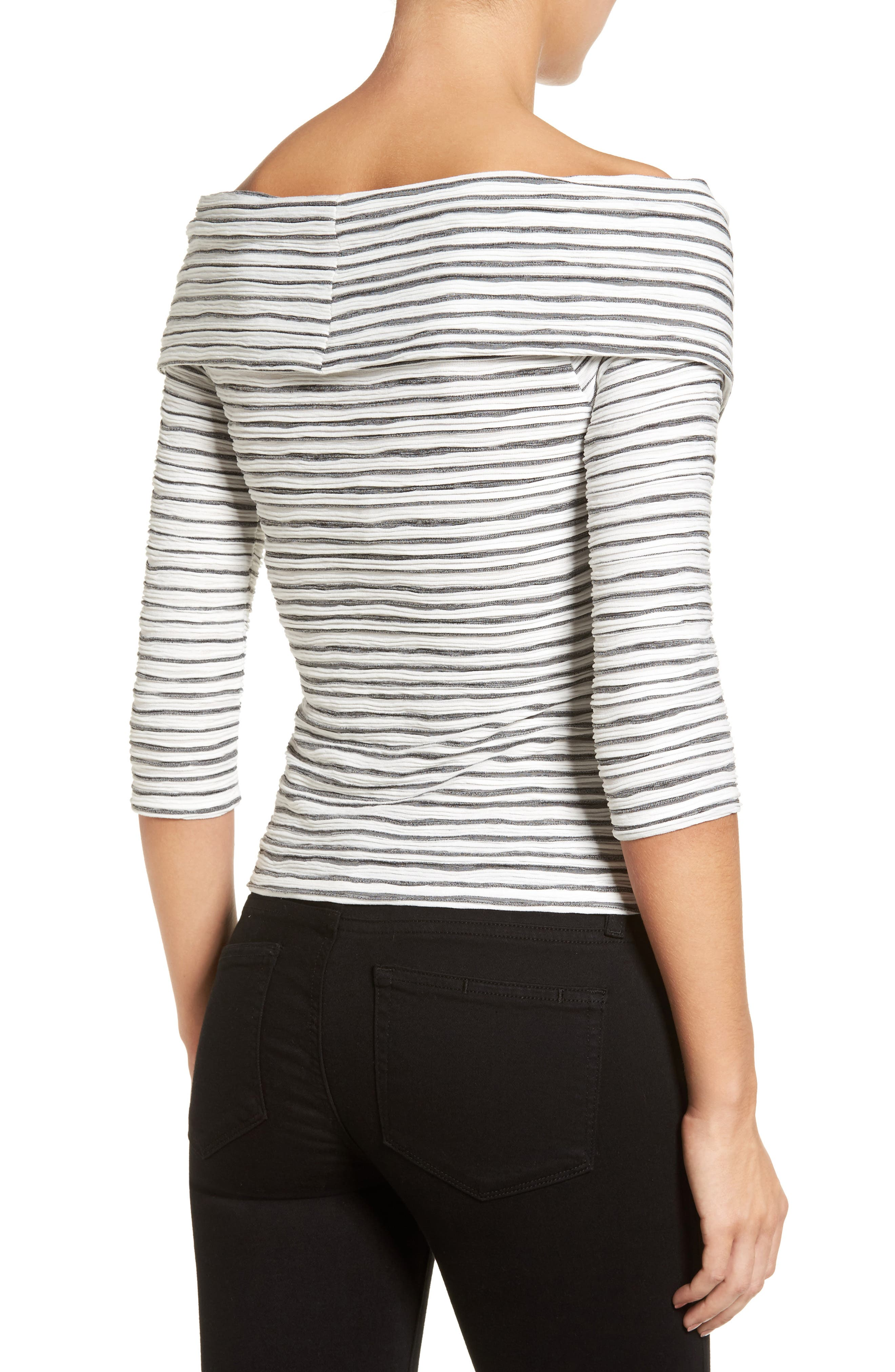Crossover Stripe Top,                             Alternate thumbnail 6, color,
