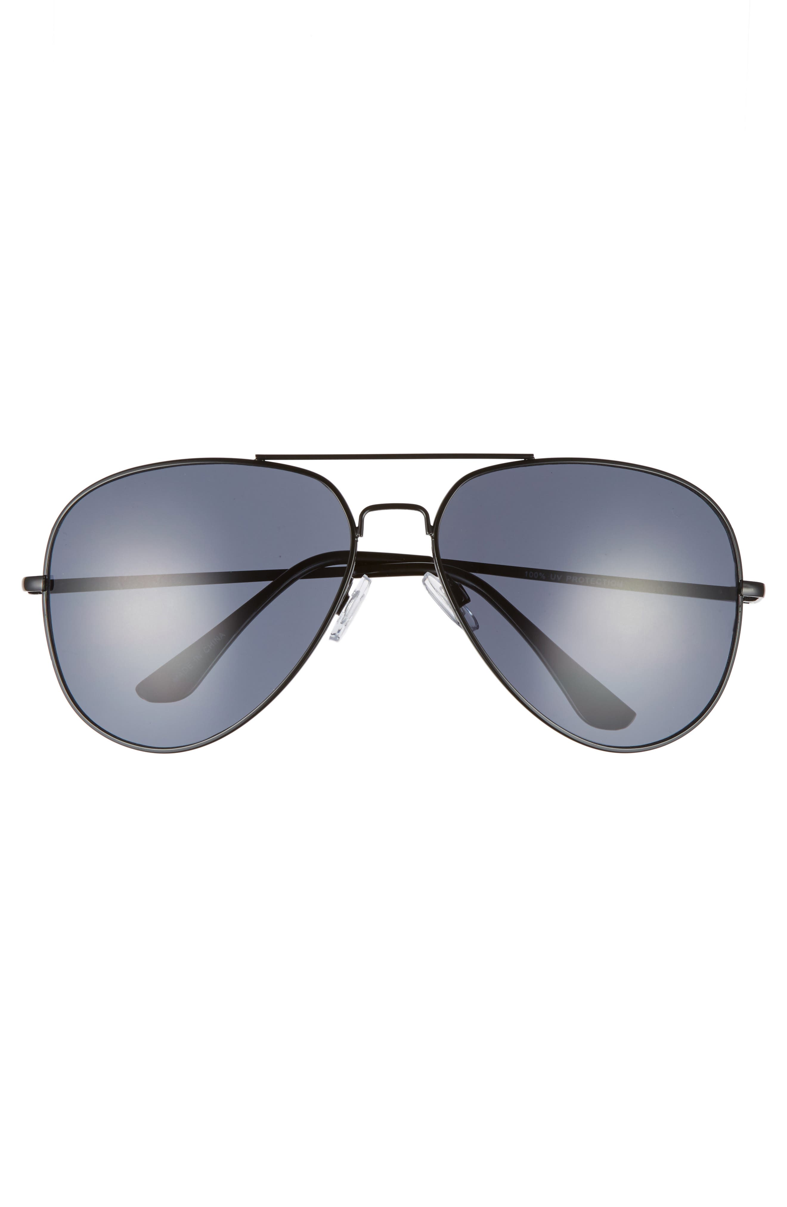 60mm Large Aviator Sunglasses,                             Alternate thumbnail 3, color,                             001