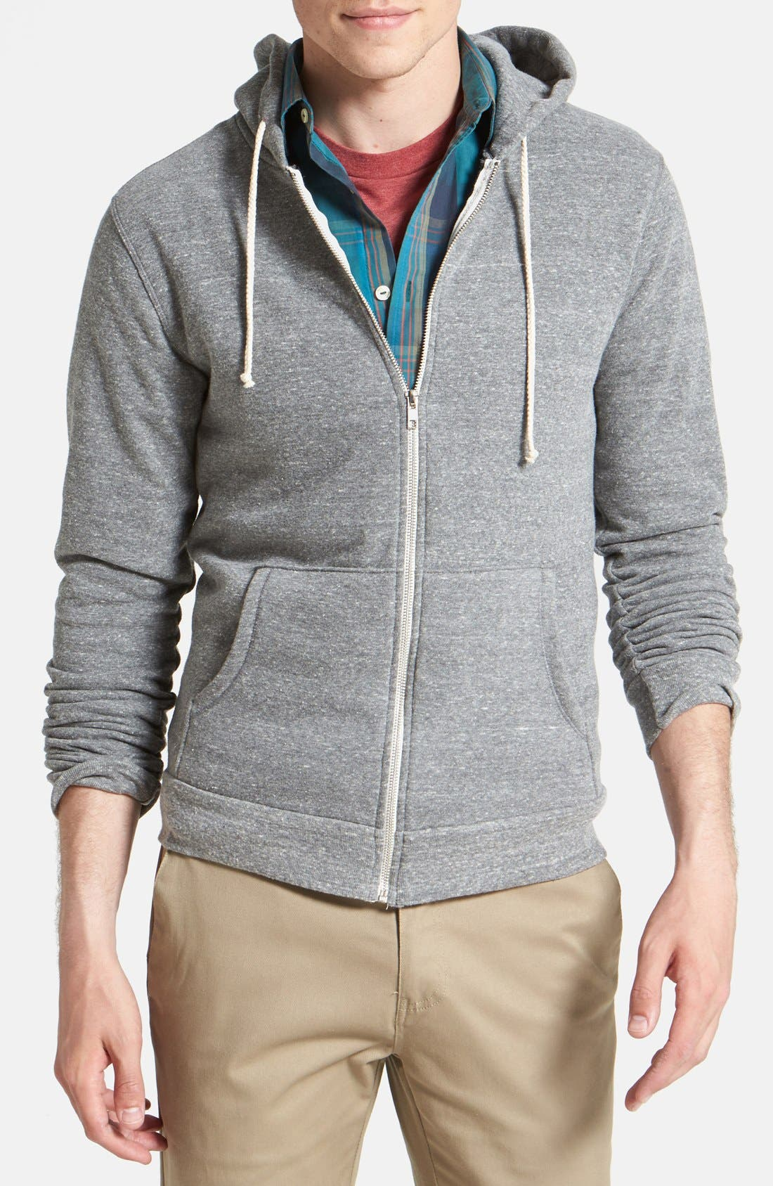 Threads for Thought Trim Fit Heathered Hoodie,                             Main thumbnail 18, color,