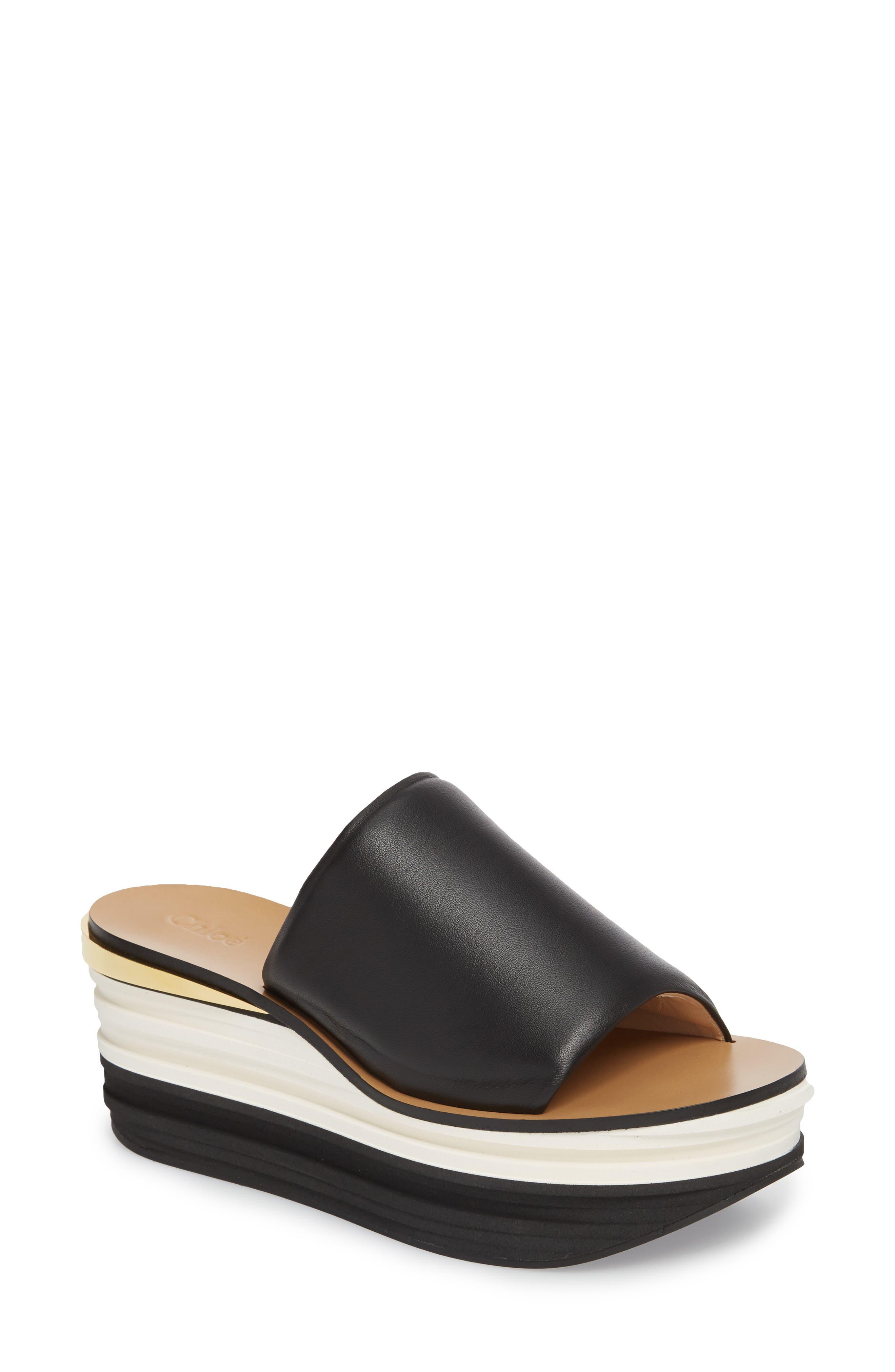 Camille Platform Sandal,                         Main,                         color, BLACK