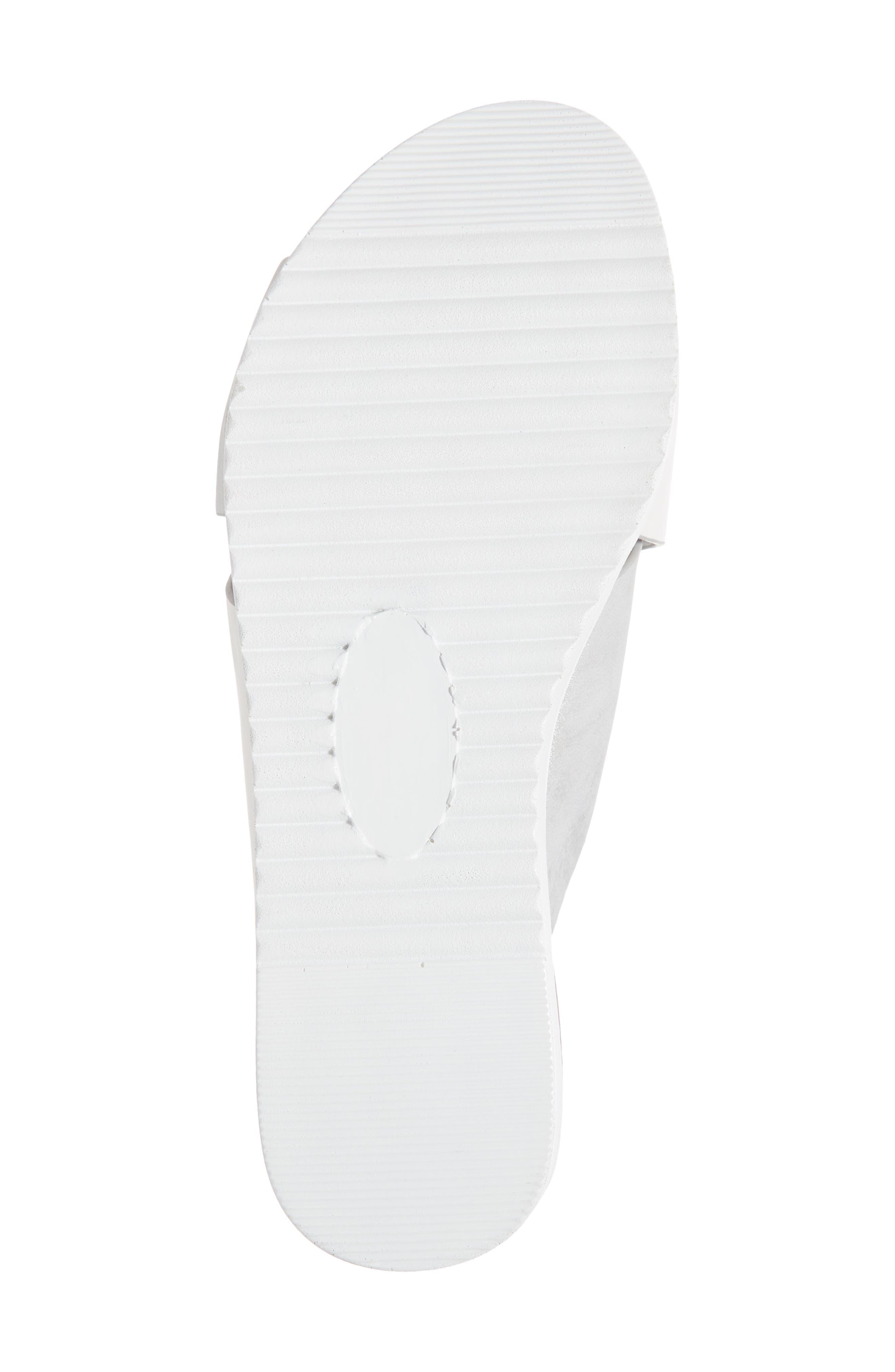 Rwon Slide Sandal,                             Alternate thumbnail 6, color,                             WHITE/ SILVER LEATHER
