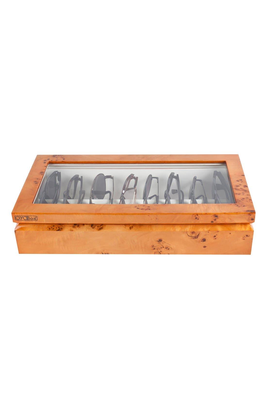Lacquered Wood Window Top Eyewear Organizer Case,                             Alternate thumbnail 16, color,