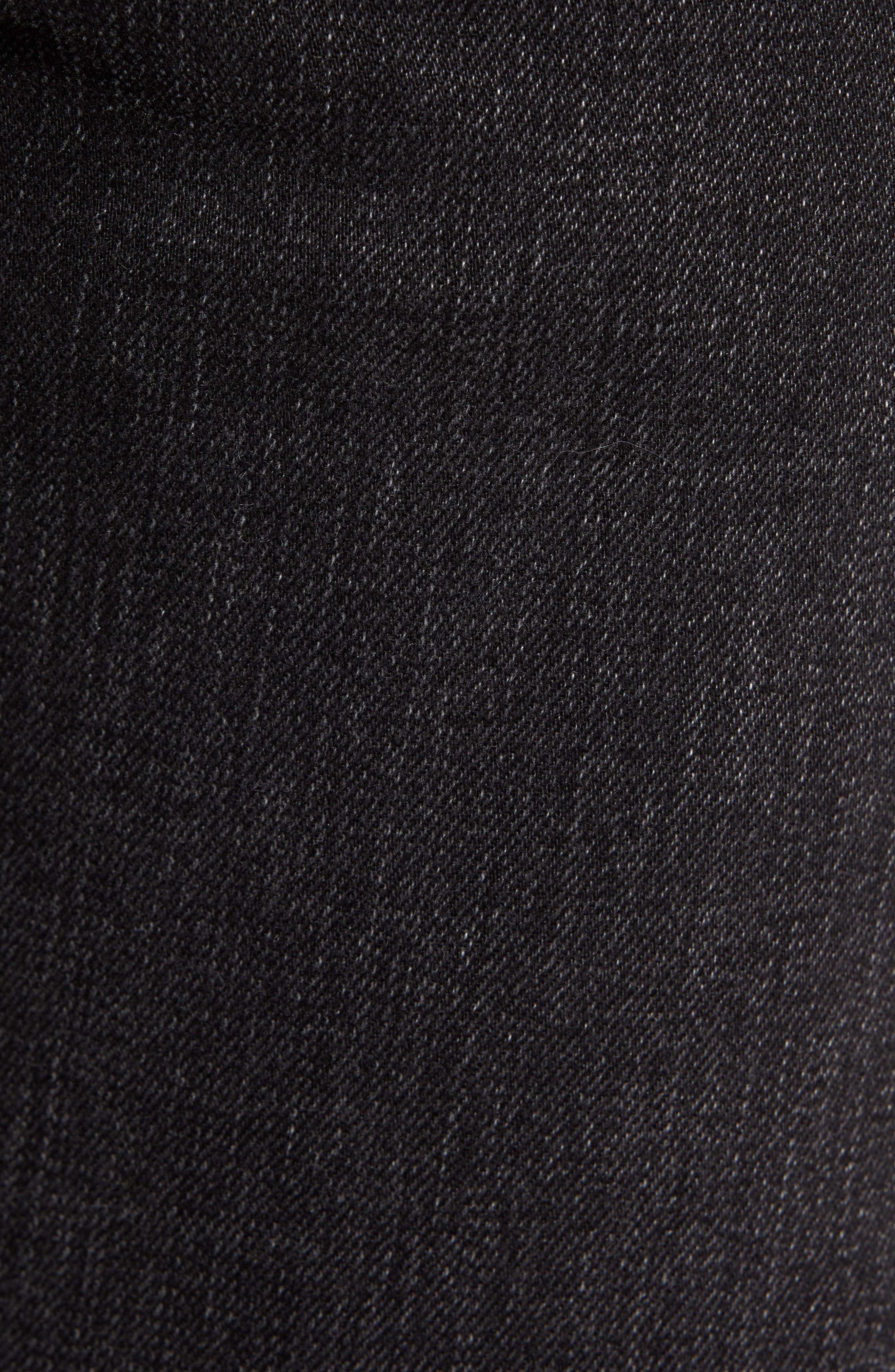 Greensboro Straight Leg Jeans,                             Alternate thumbnail 5, color,                             BLACK