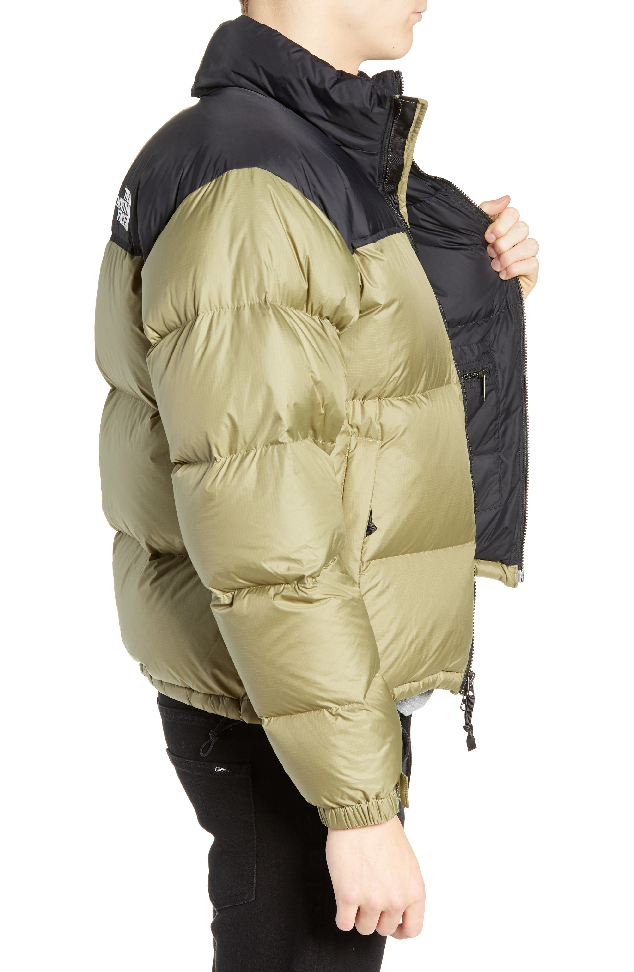 Nuptse 1996 Packable Quilted Down Jacket,                             Alternate thumbnail 3, color,                             TUMBLEWEED GREEN