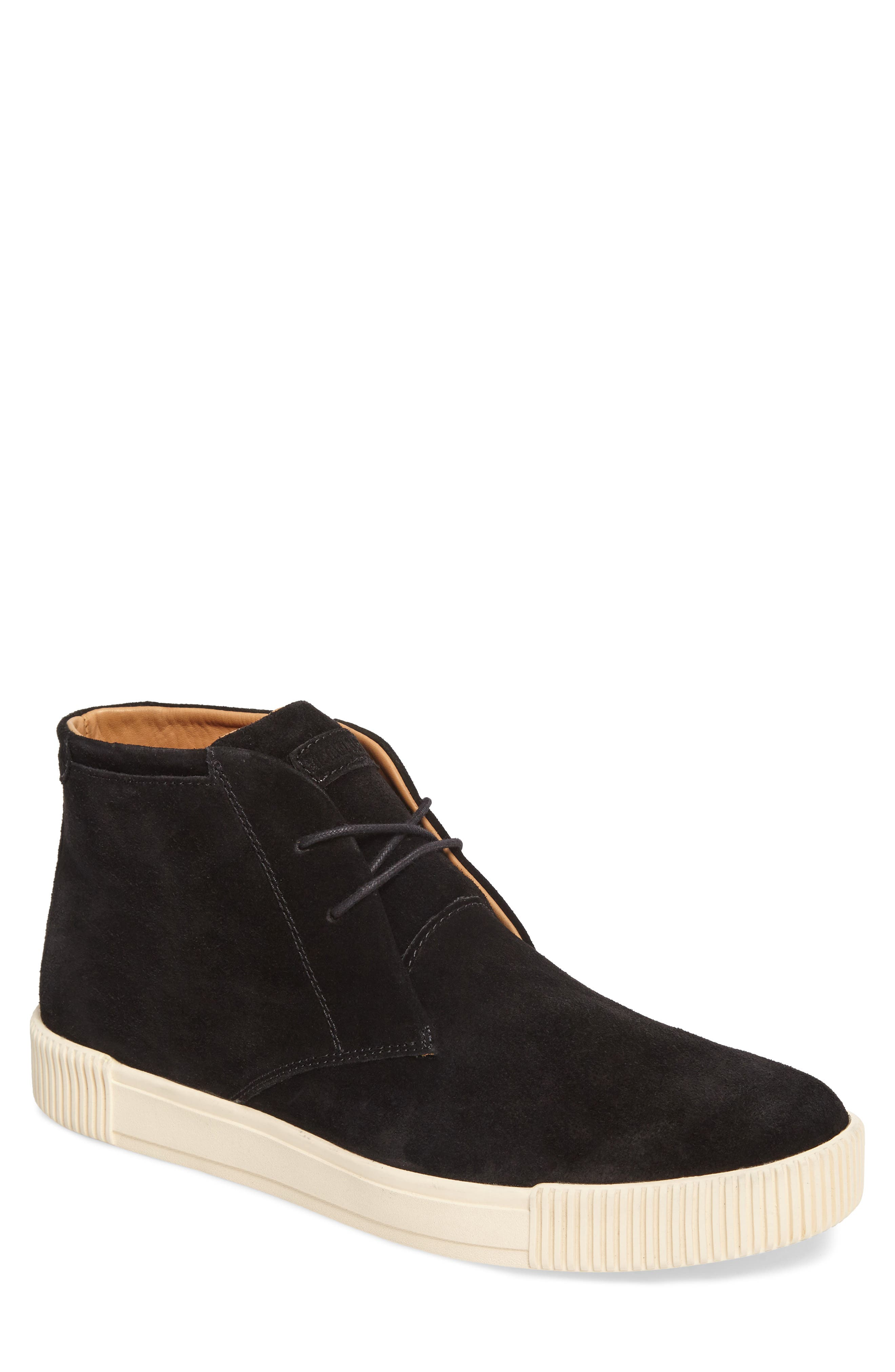 Lyons Chukka Sneaker,                         Main,                         color, BLACK SUEDE