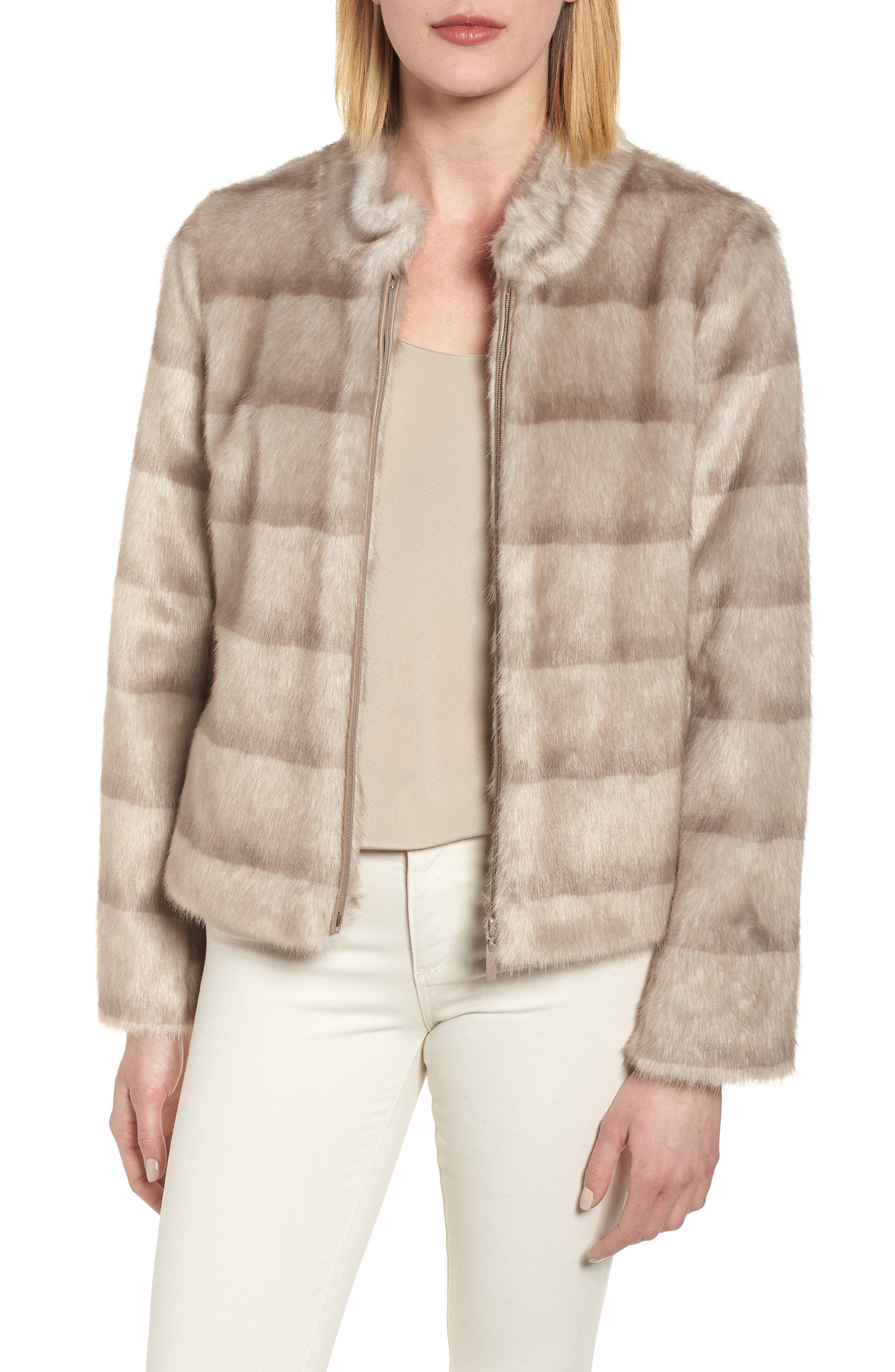 Faux Mink Jacket,                         Main,                         color, 282