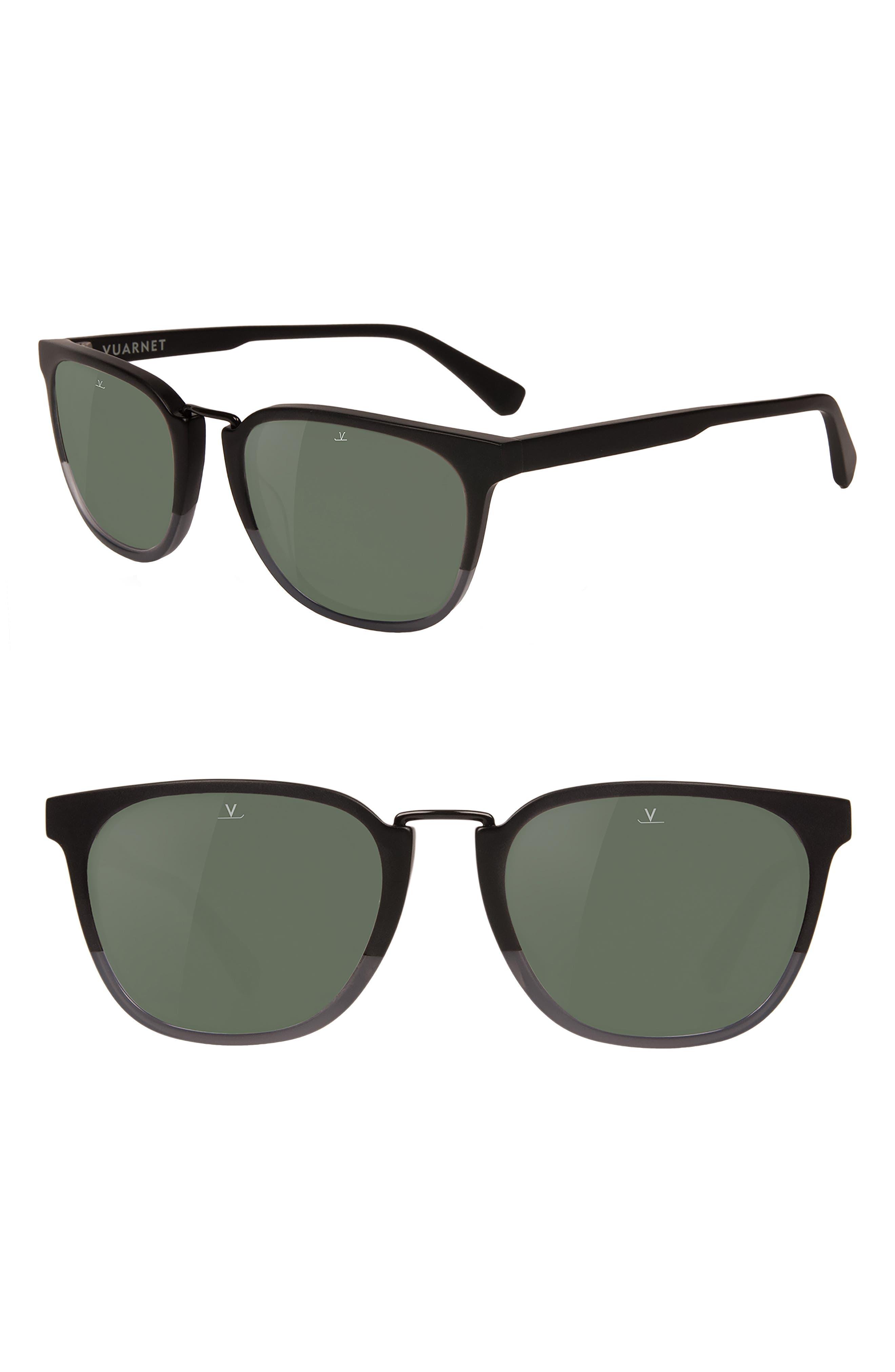 Cable Car 54mm Polarized Sunglasses,                             Main thumbnail 1, color,                             MATT BLACK / GREY POLAR
