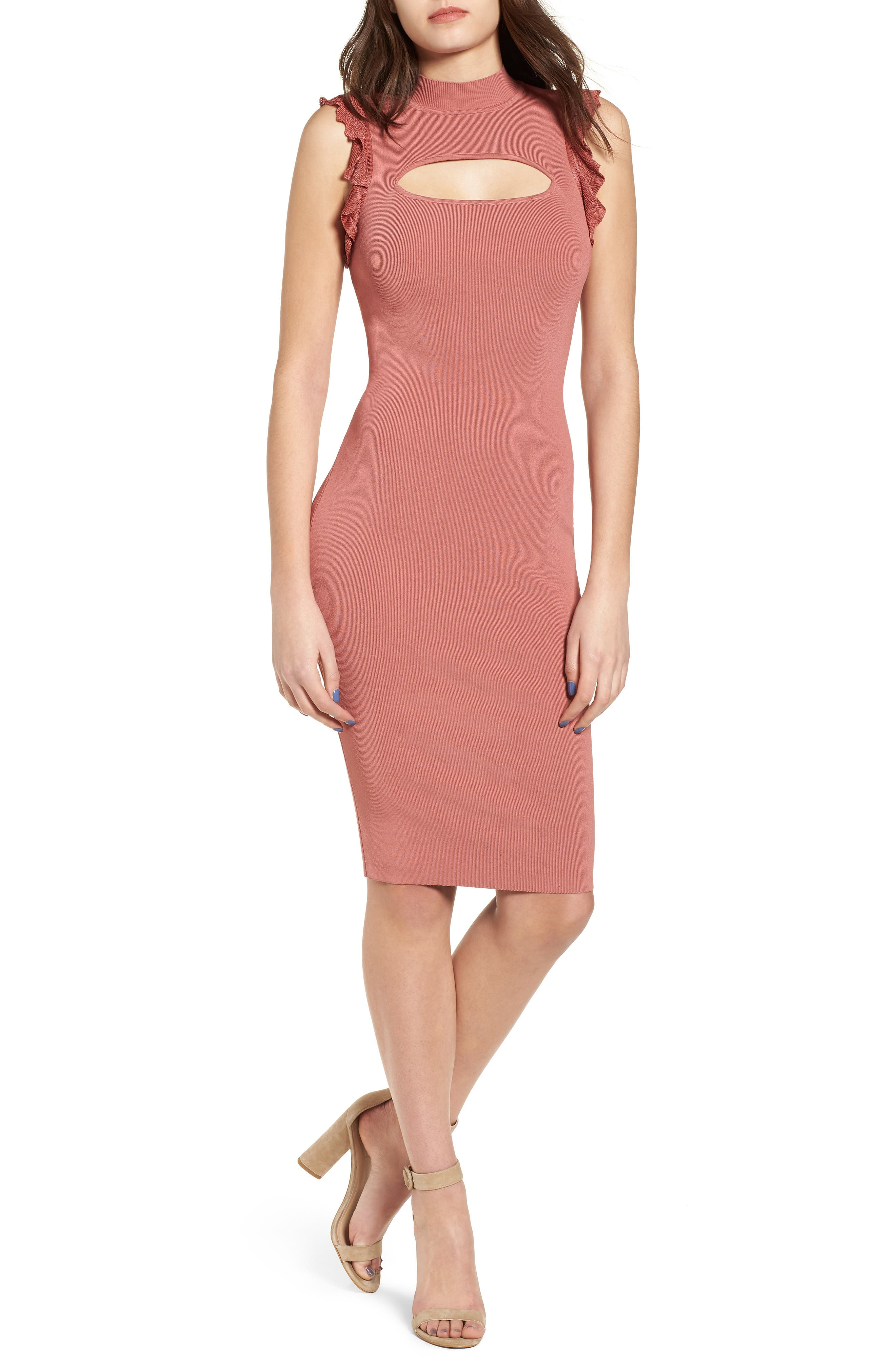 Bewitched Body-Con Dress,                             Alternate thumbnail 5, color,                             020