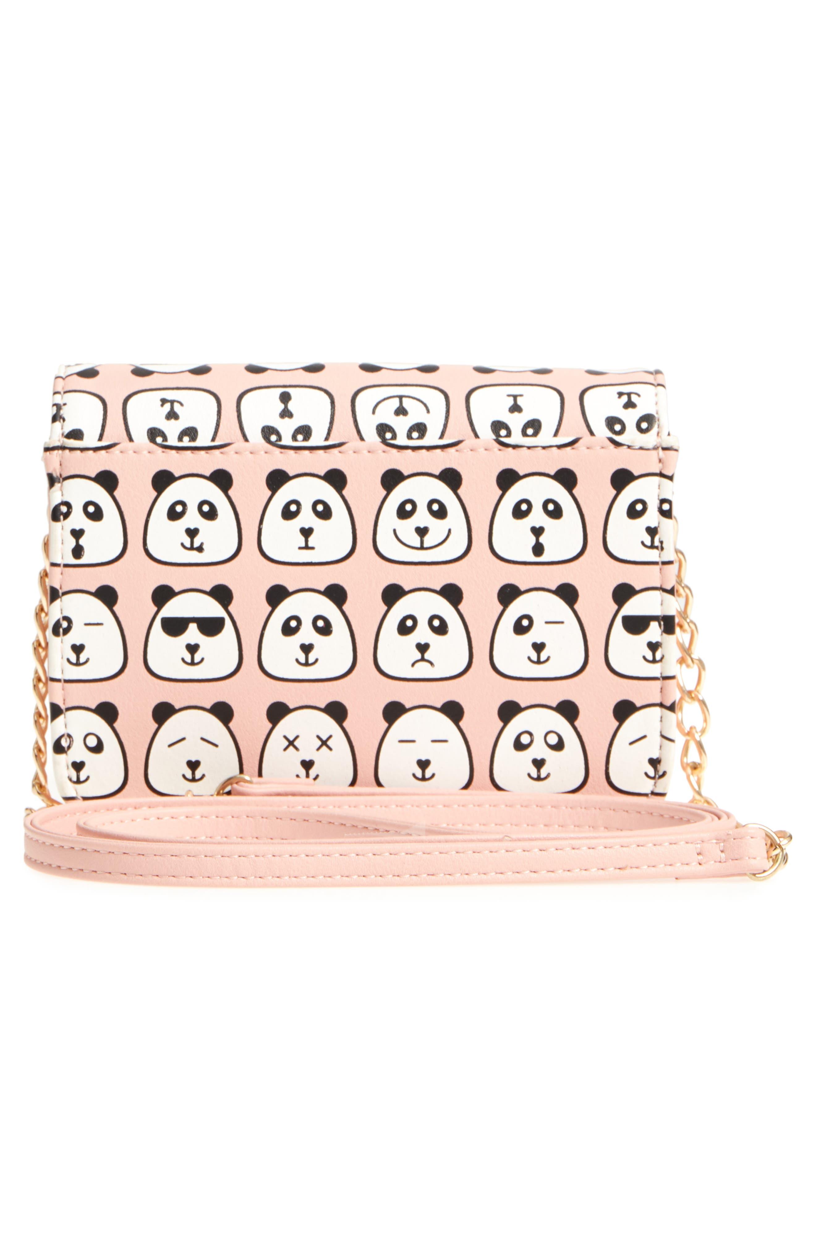 Panda Print Crossbody Bag,                             Alternate thumbnail 2, color,