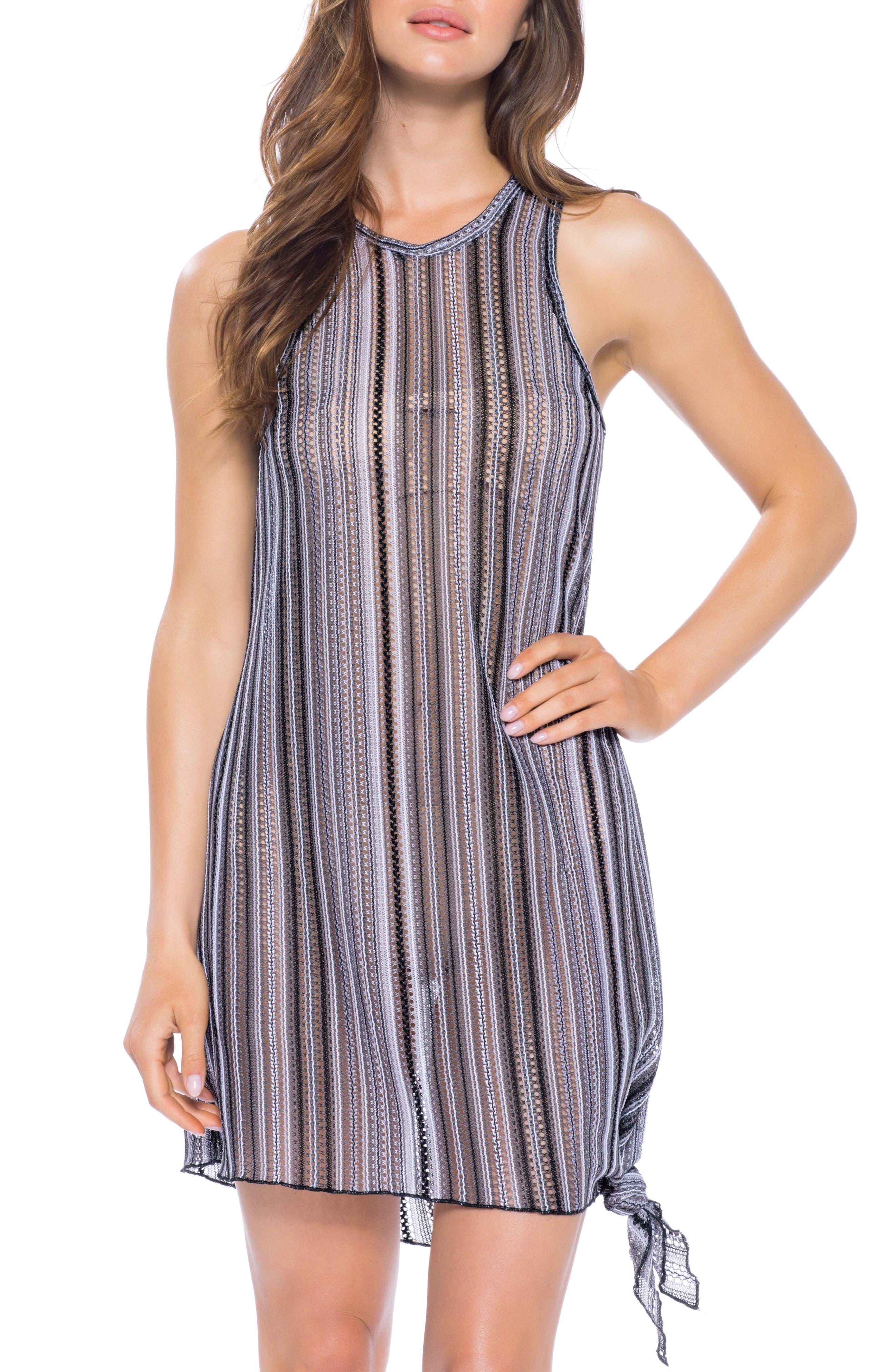 Becca Pierside Knot Cover-Up Dress, Black