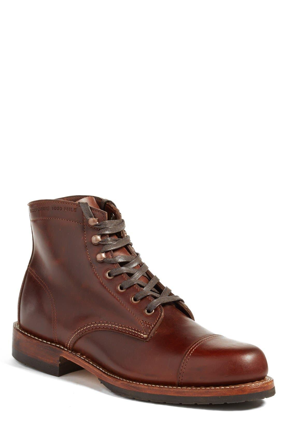 'Adrian' Cap Toe Boot,                             Main thumbnail 2, color,