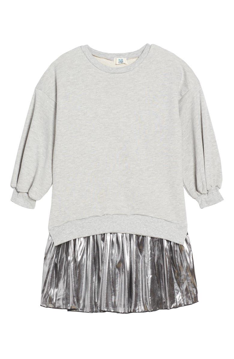 5aa1b2f590 PLAY LYST Metallic Sweatshirt Dress (Big Girls)