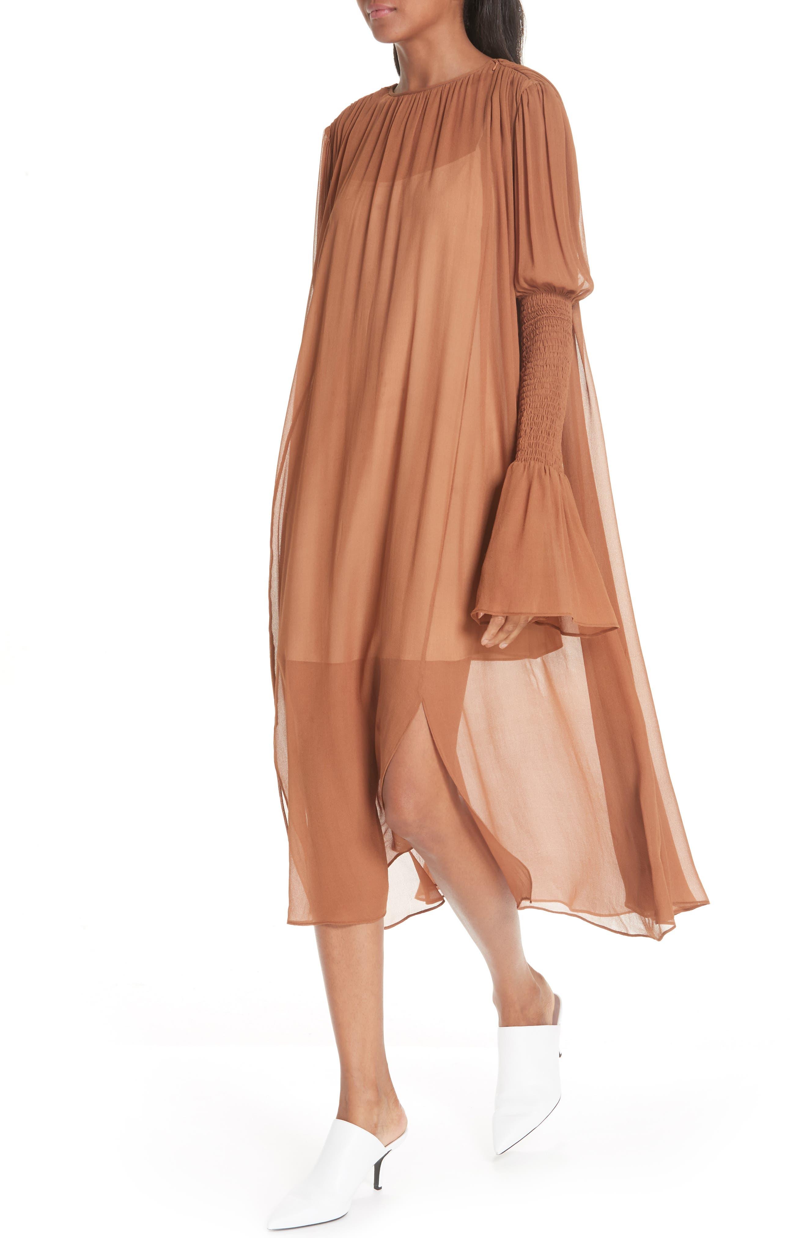 CIENNE,                             The Costa Silk Dress,                             Alternate thumbnail 4, color,                             200