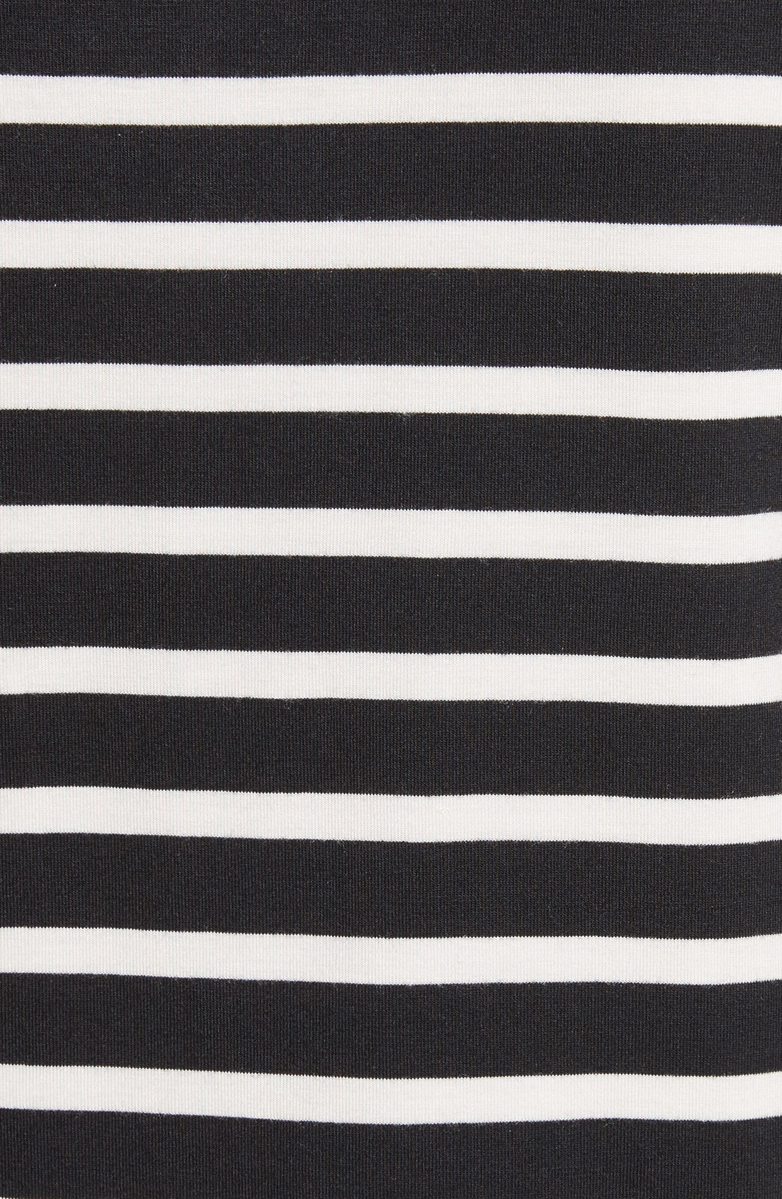 kate spade lace flounce stripe top,                             Alternate thumbnail 5, color,                             003