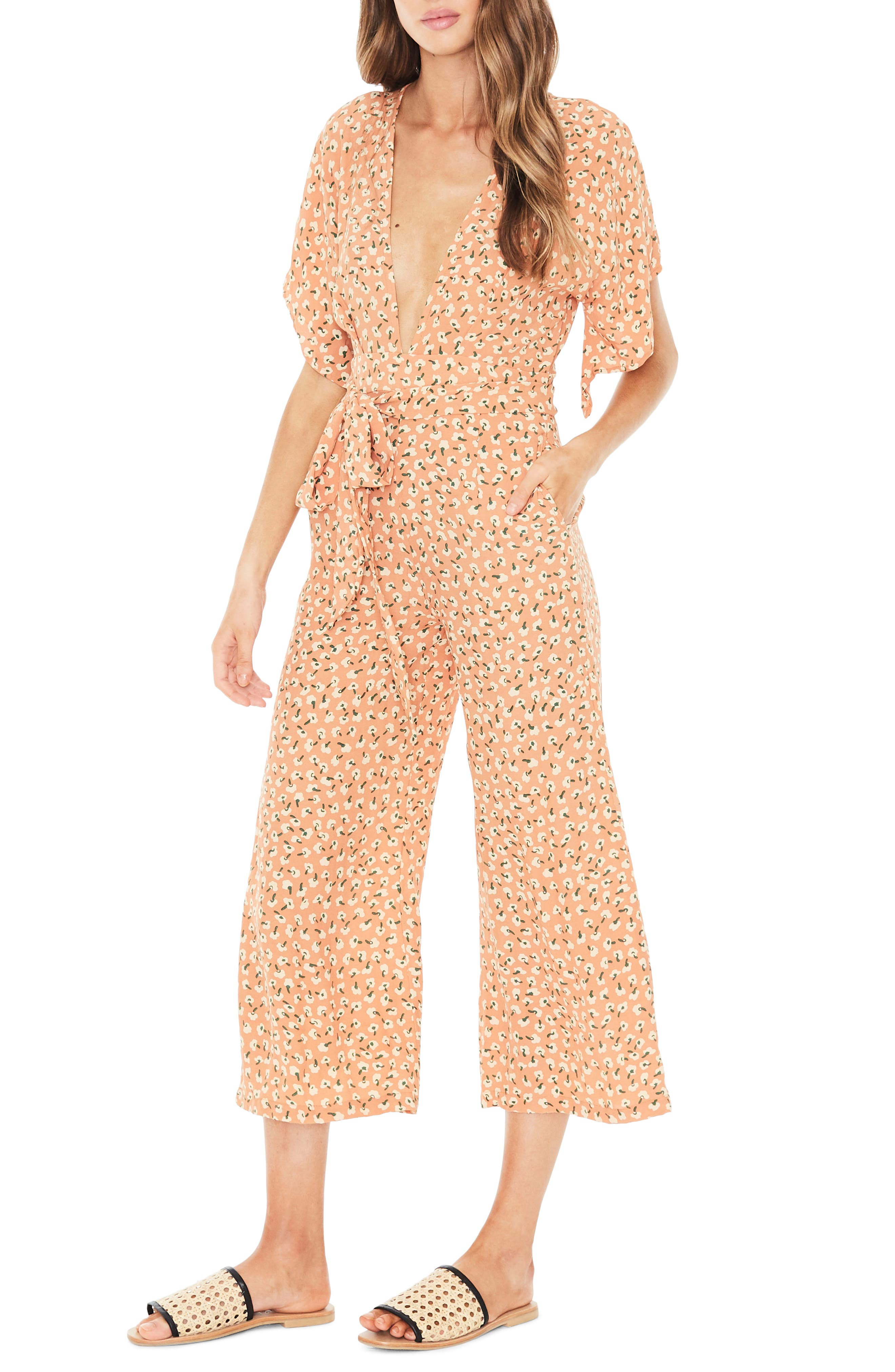 Cedric Plunging Crop Jumpsuit,                             Alternate thumbnail 3, color,                             800