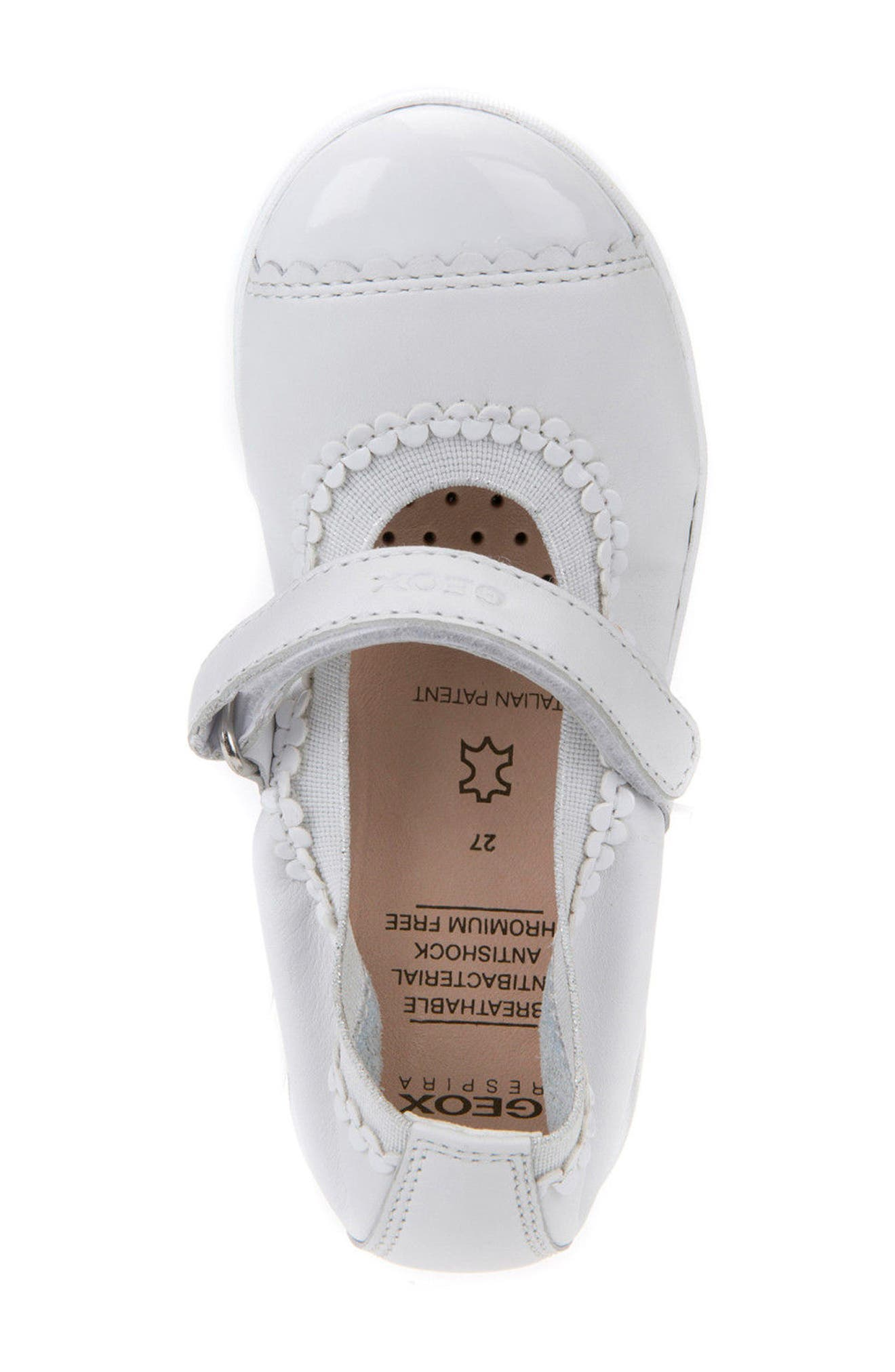 Jodie Cap Toe Mary Jane,                             Alternate thumbnail 4, color,                             WHITE
