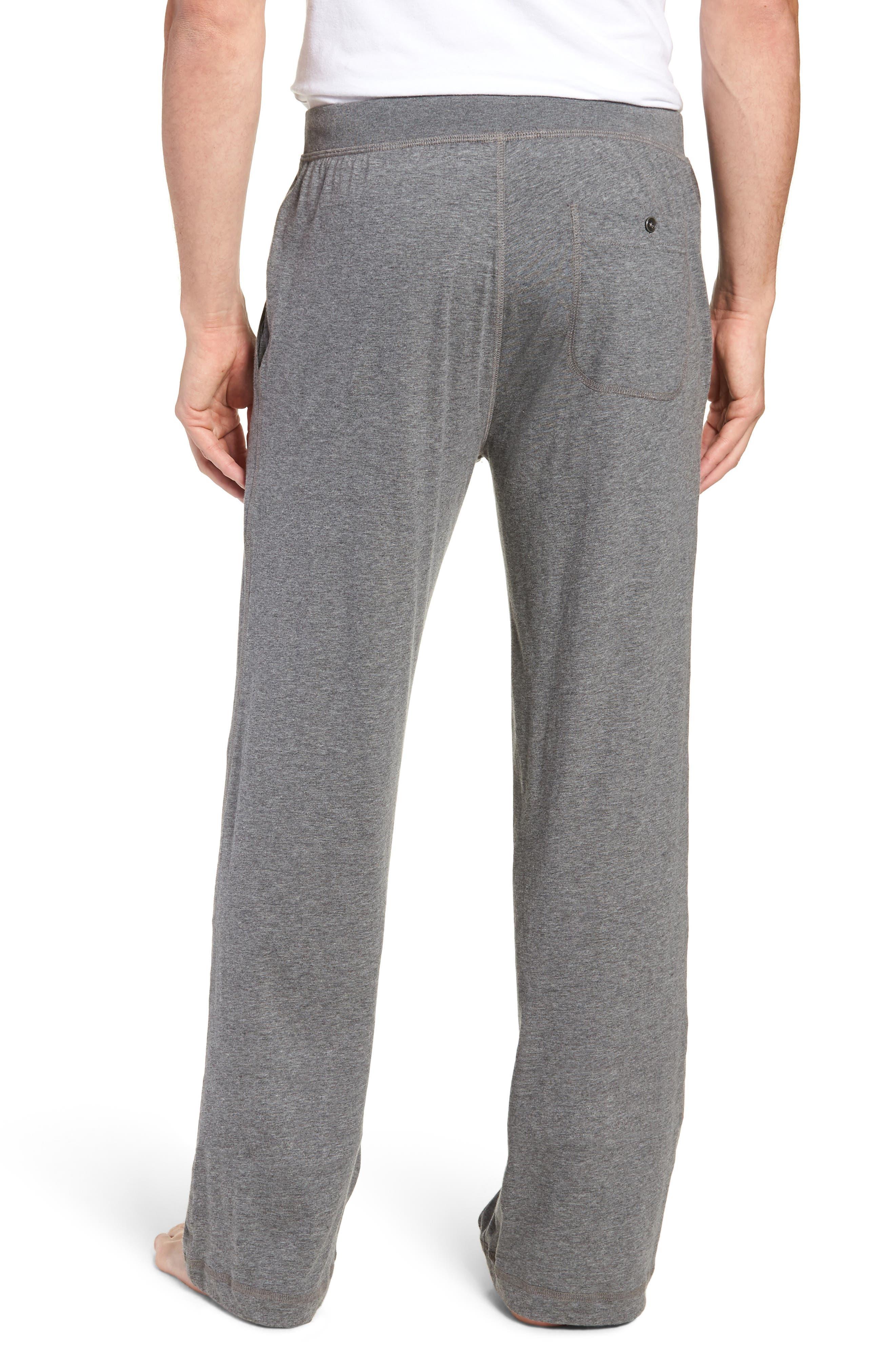 Peruvian Pima Lightweight Cotton Lounge Pants,                             Alternate thumbnail 2, color,                             CHARCOAL HEATHER