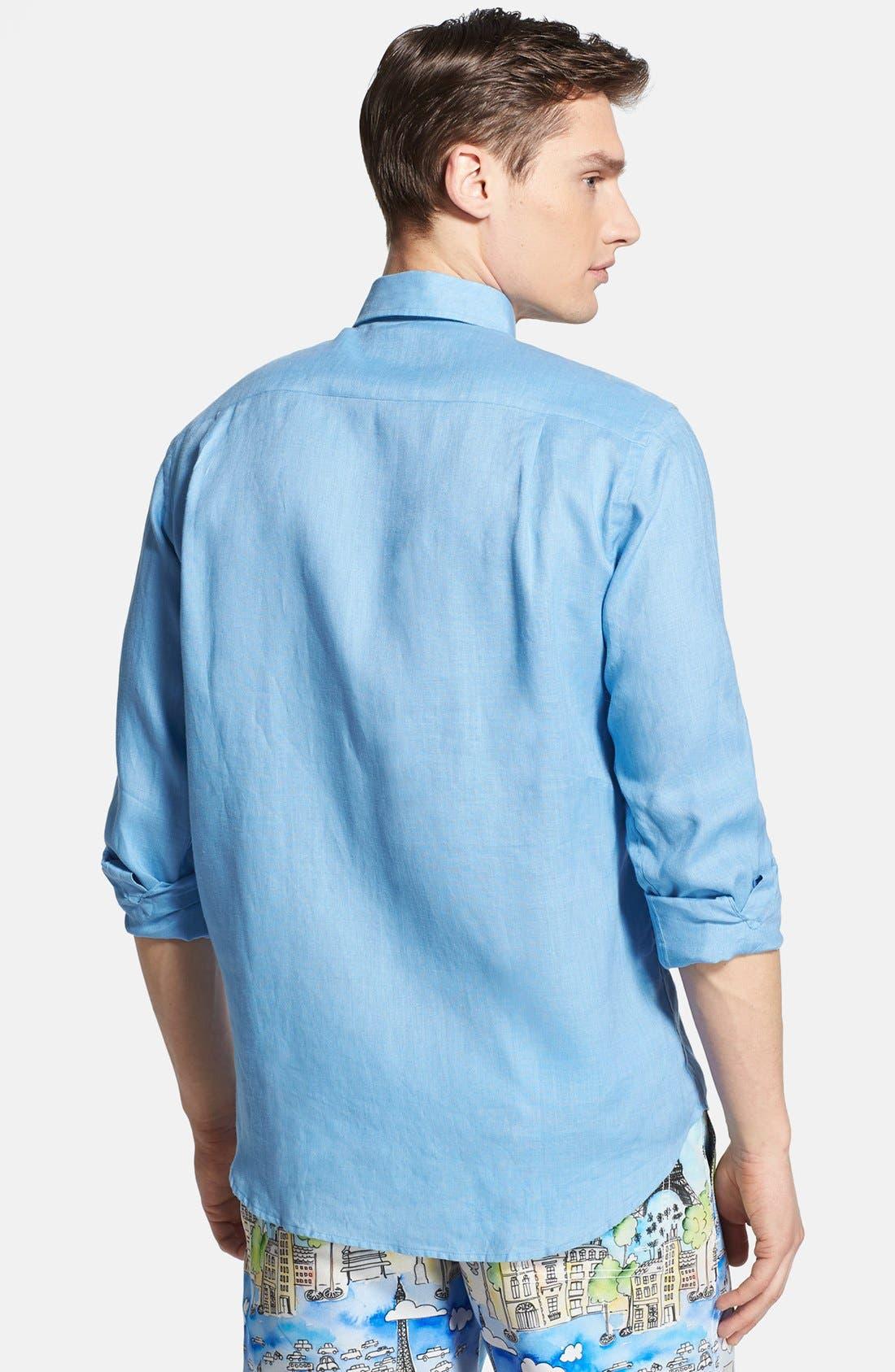 'Caroubier' Linen Shirt,                             Alternate thumbnail 47, color,