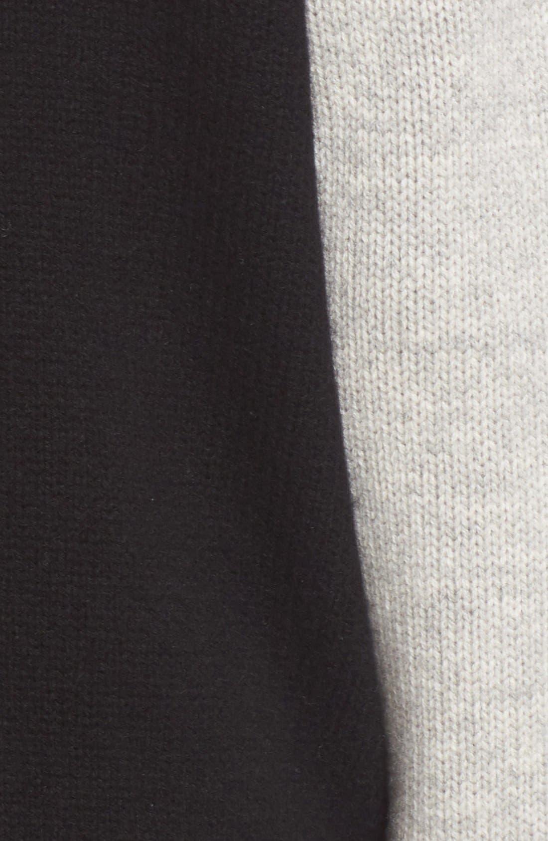 Stripe Detail Wool & Cashmere Knit Varsity Jacket,                             Alternate thumbnail 3, color,                             002