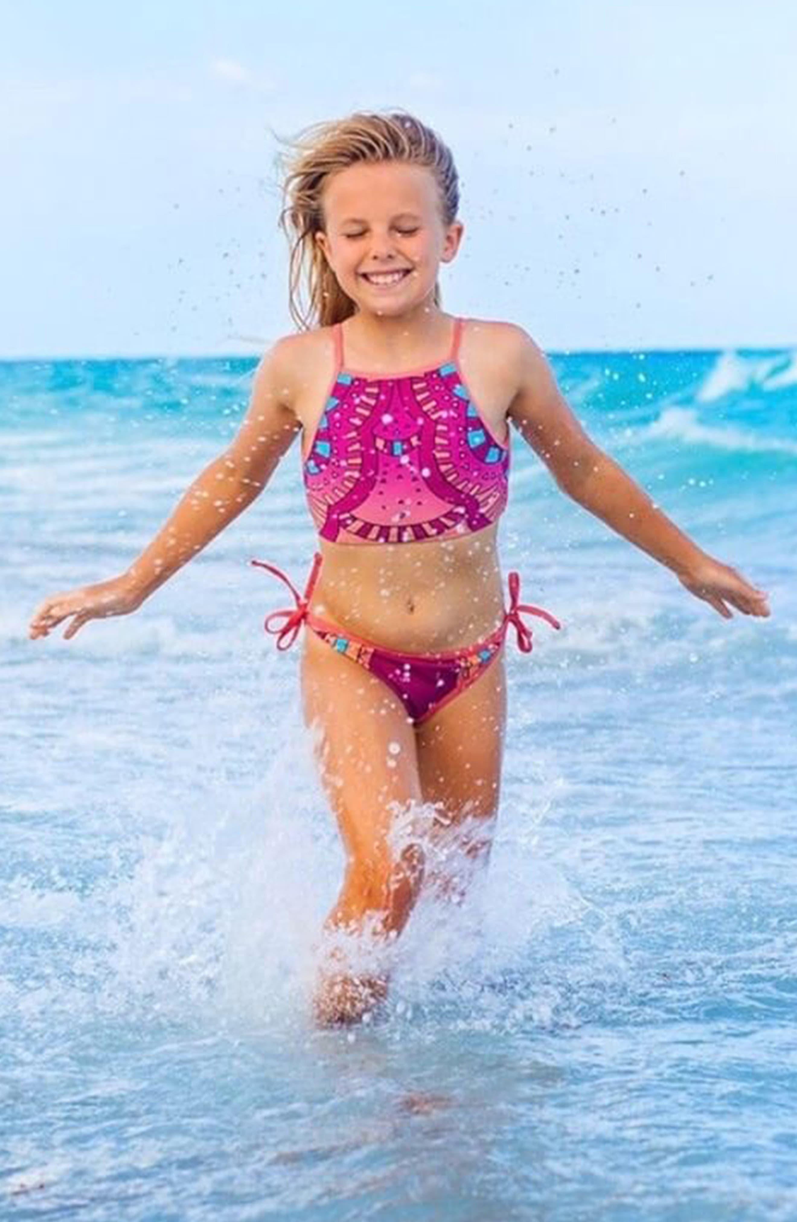 Kezia Moroccan Crop Two-Piece Tankini Swimsuit,                             Alternate thumbnail 3, color,                             800