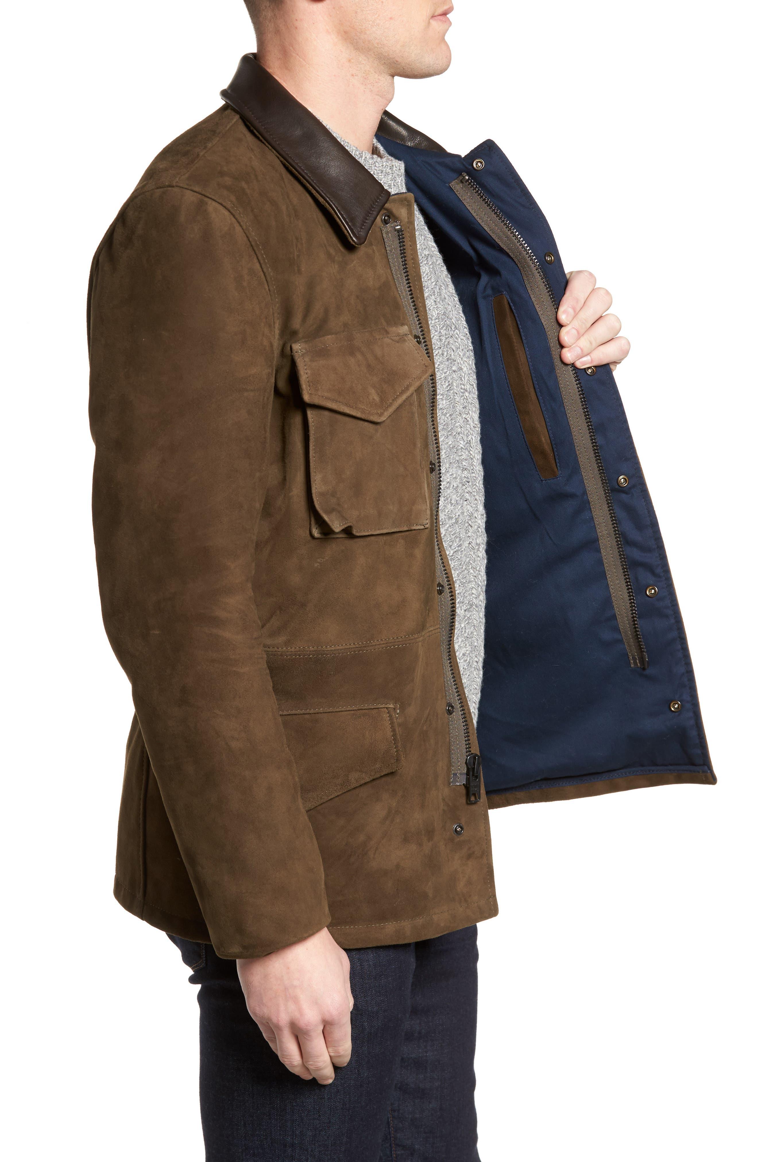 Suede M-51 Field Coat,                             Alternate thumbnail 3, color,                             352