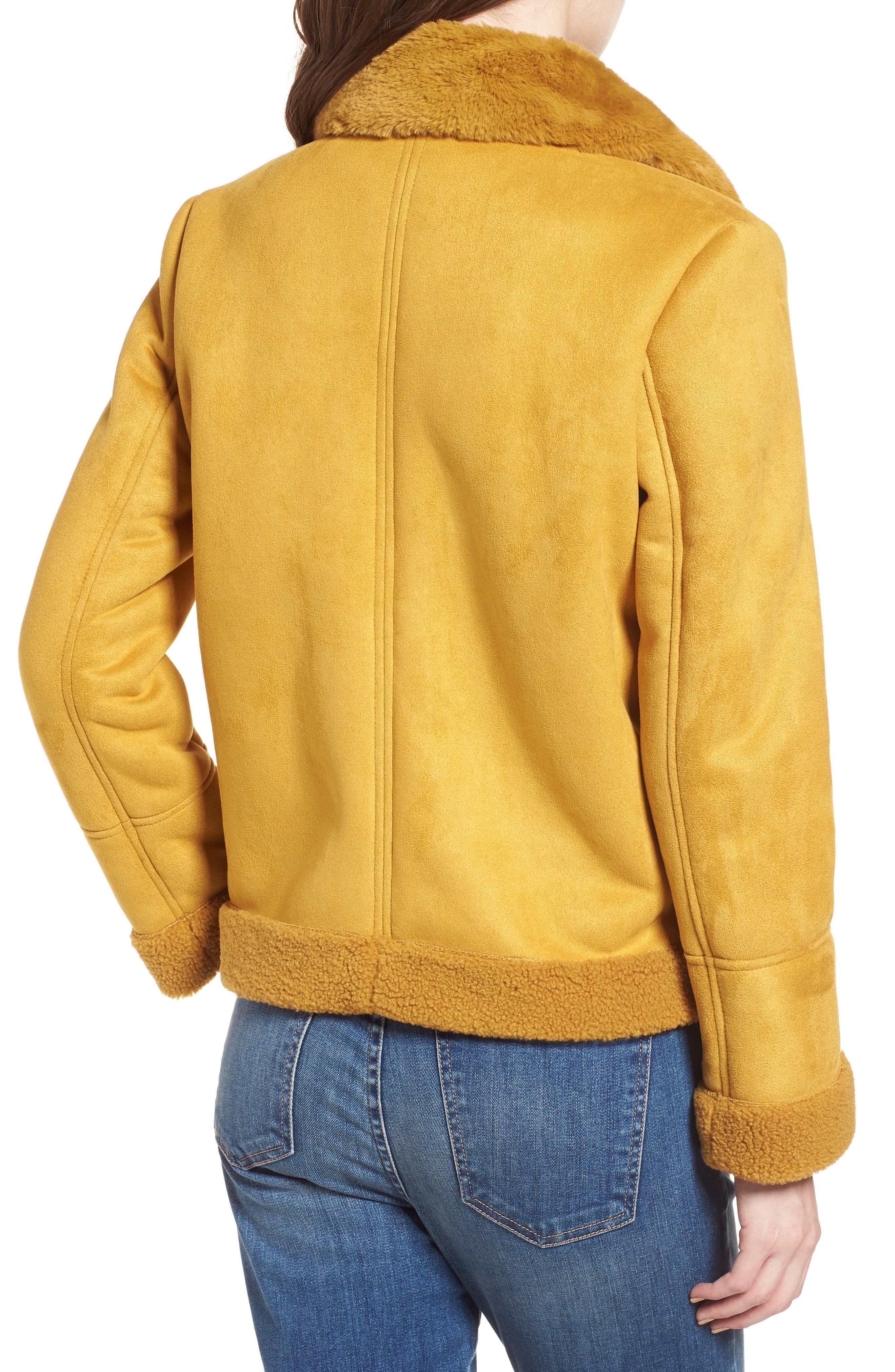 Faux Shearling Zip Front Jacket,                             Alternate thumbnail 2, color,                             702