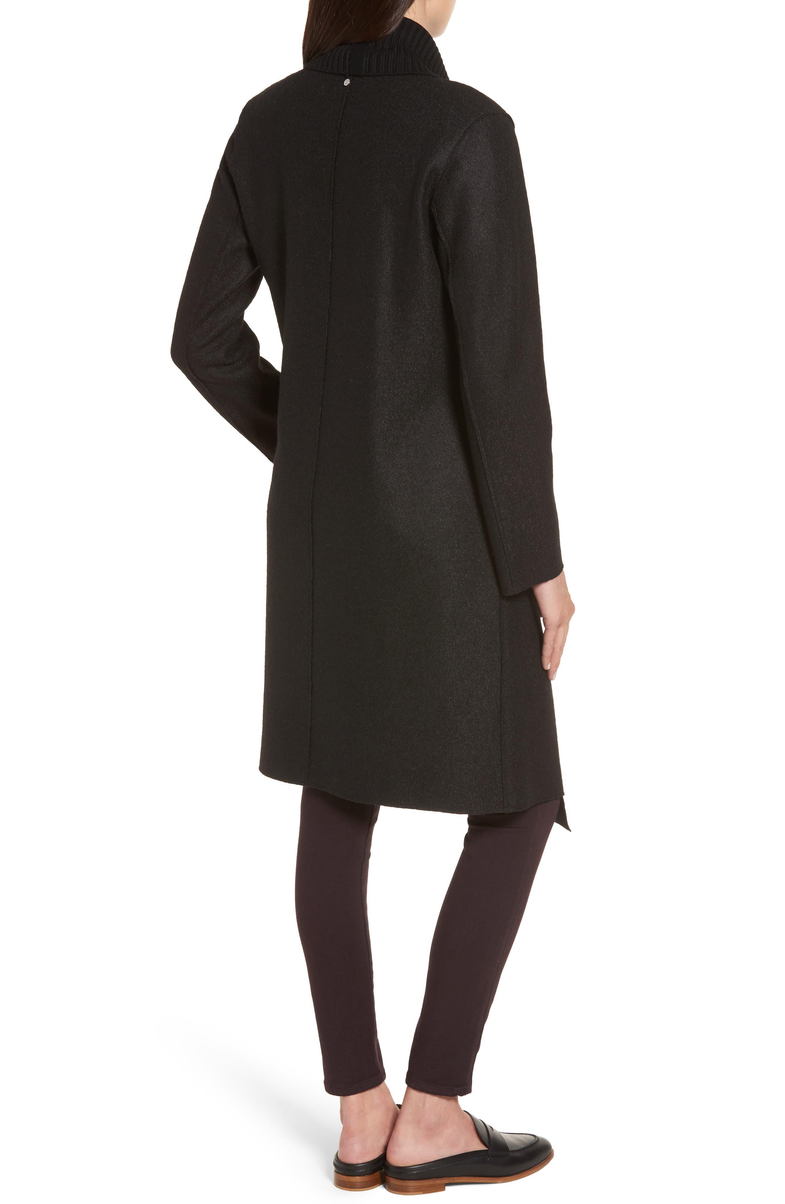 Emily Boiled Wool Blend Duster Coat,                             Alternate thumbnail 2, color,                             001