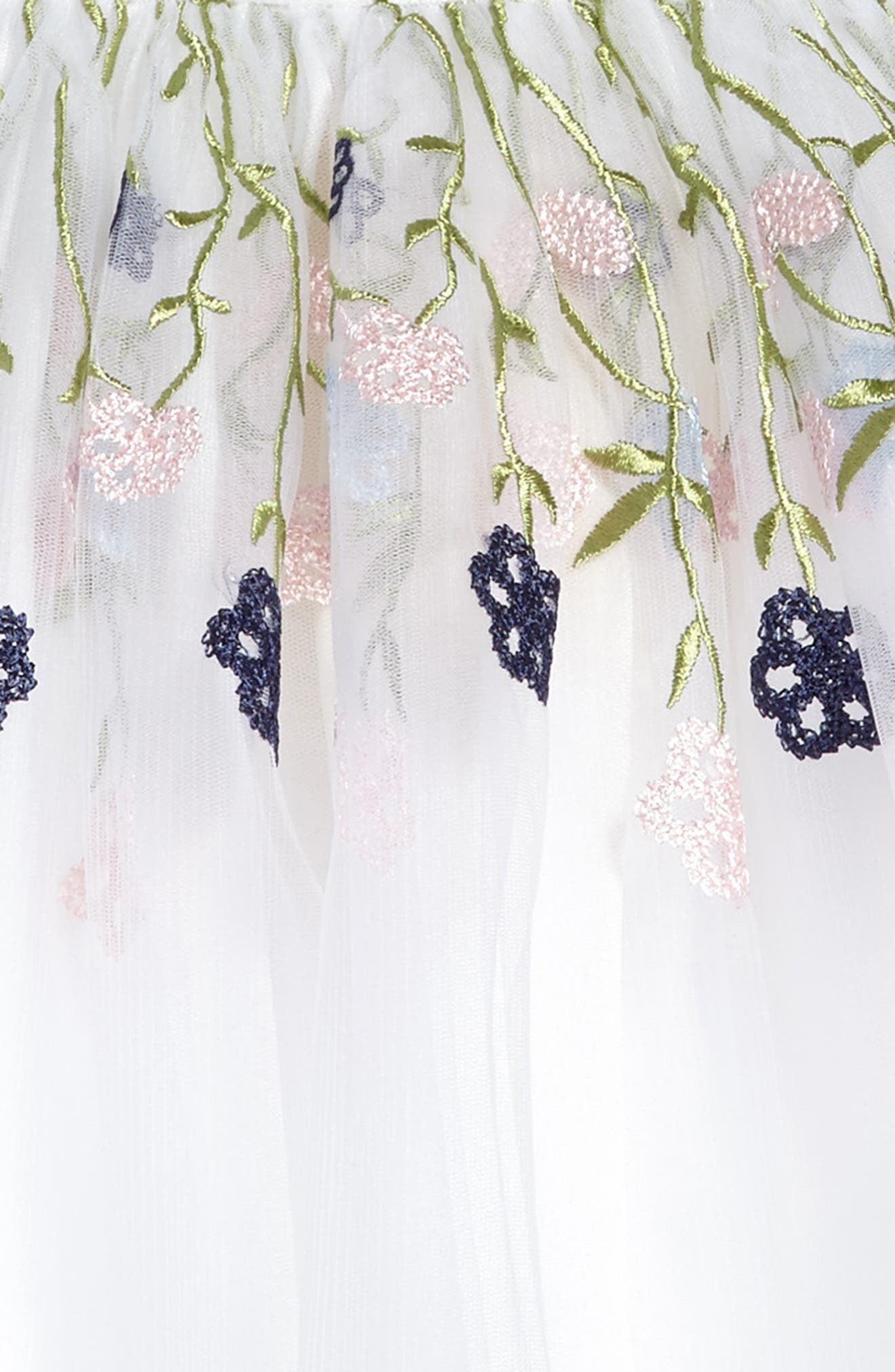 Floral Embroidered Dress,                             Alternate thumbnail 3, color,                             100