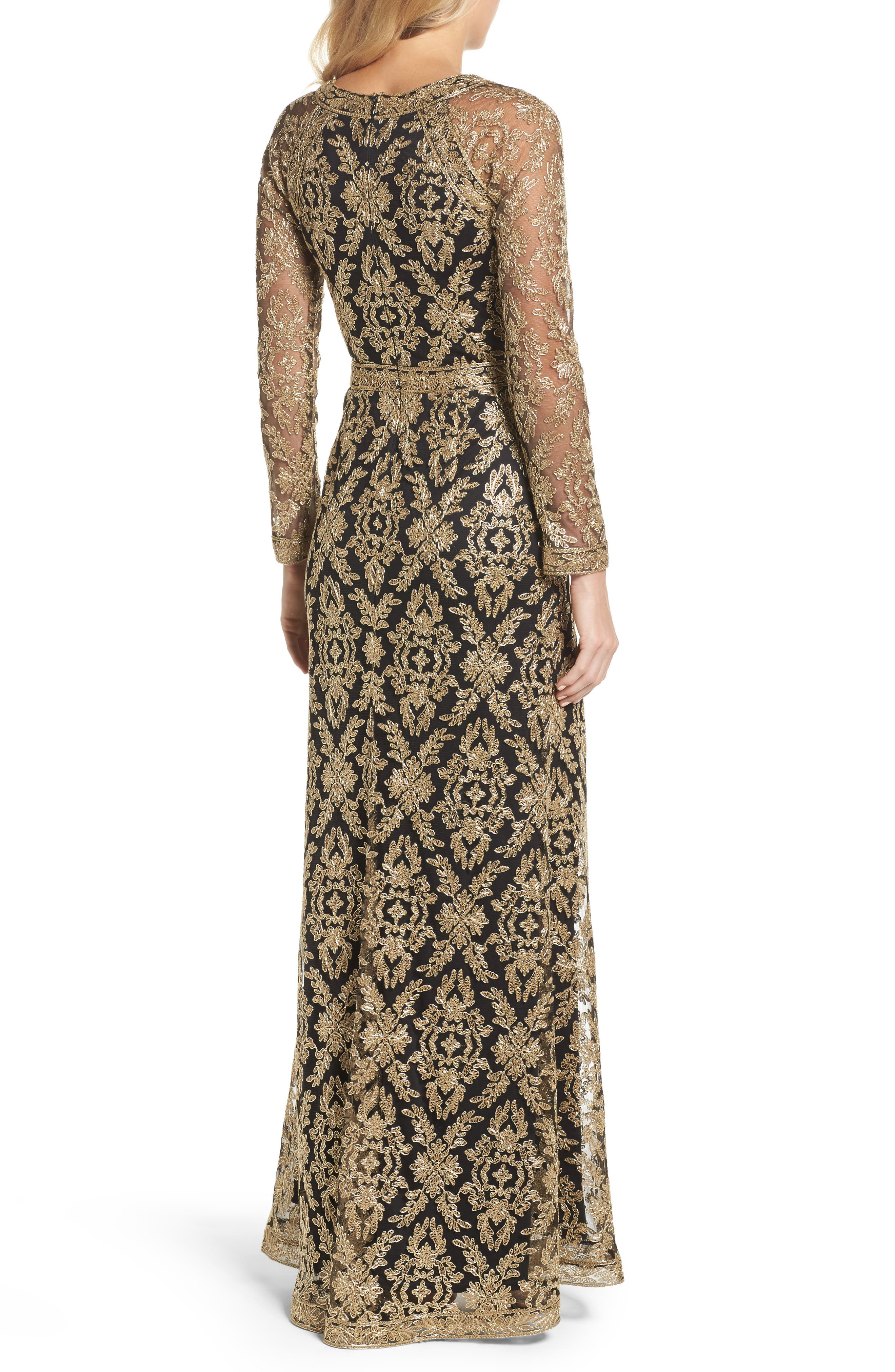 Embroidered Lace Gown,                             Alternate thumbnail 2, color,                             712