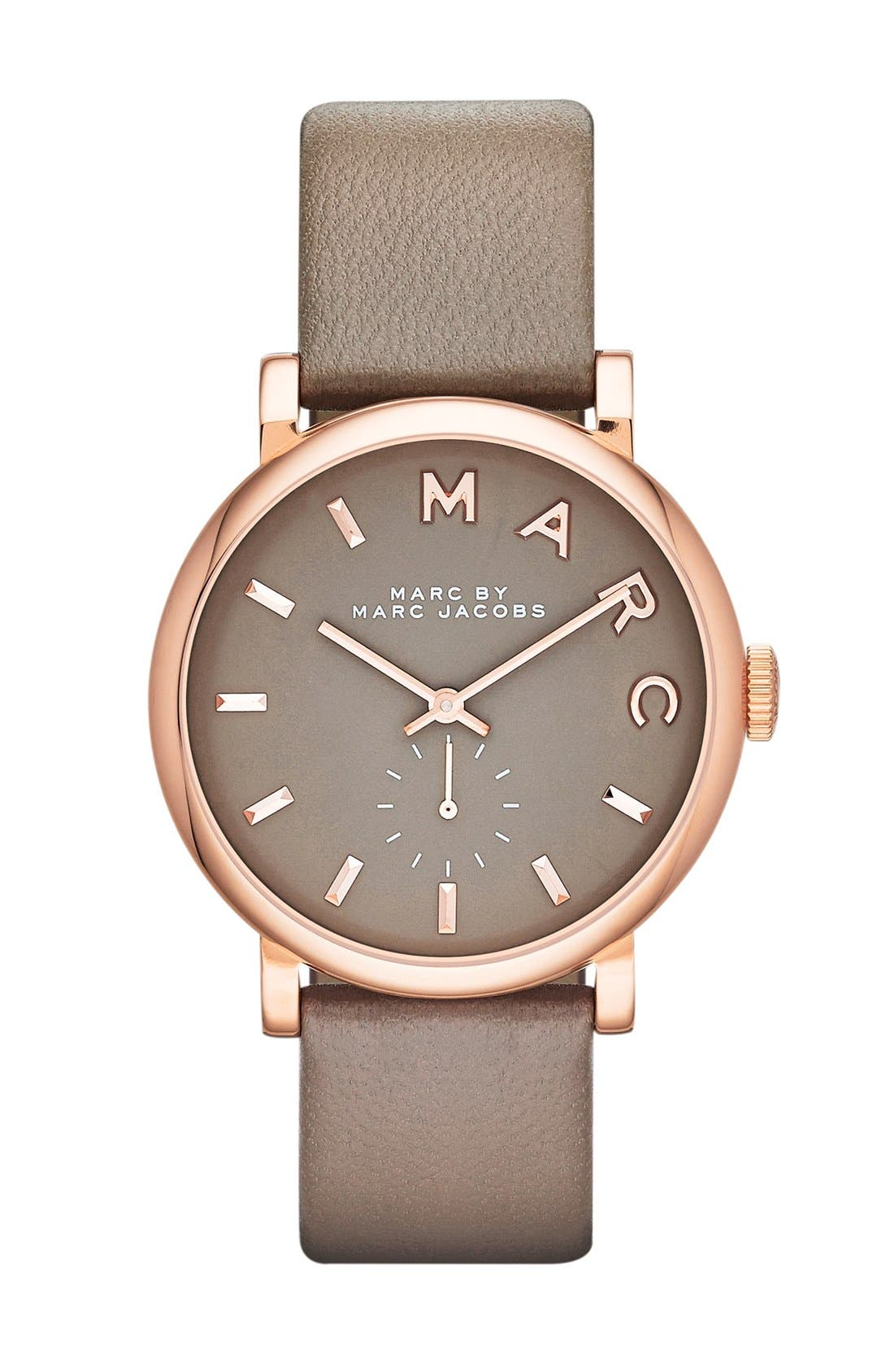 'Baker' Leather Strap Watch, 37mm,                             Main thumbnail 3, color,
