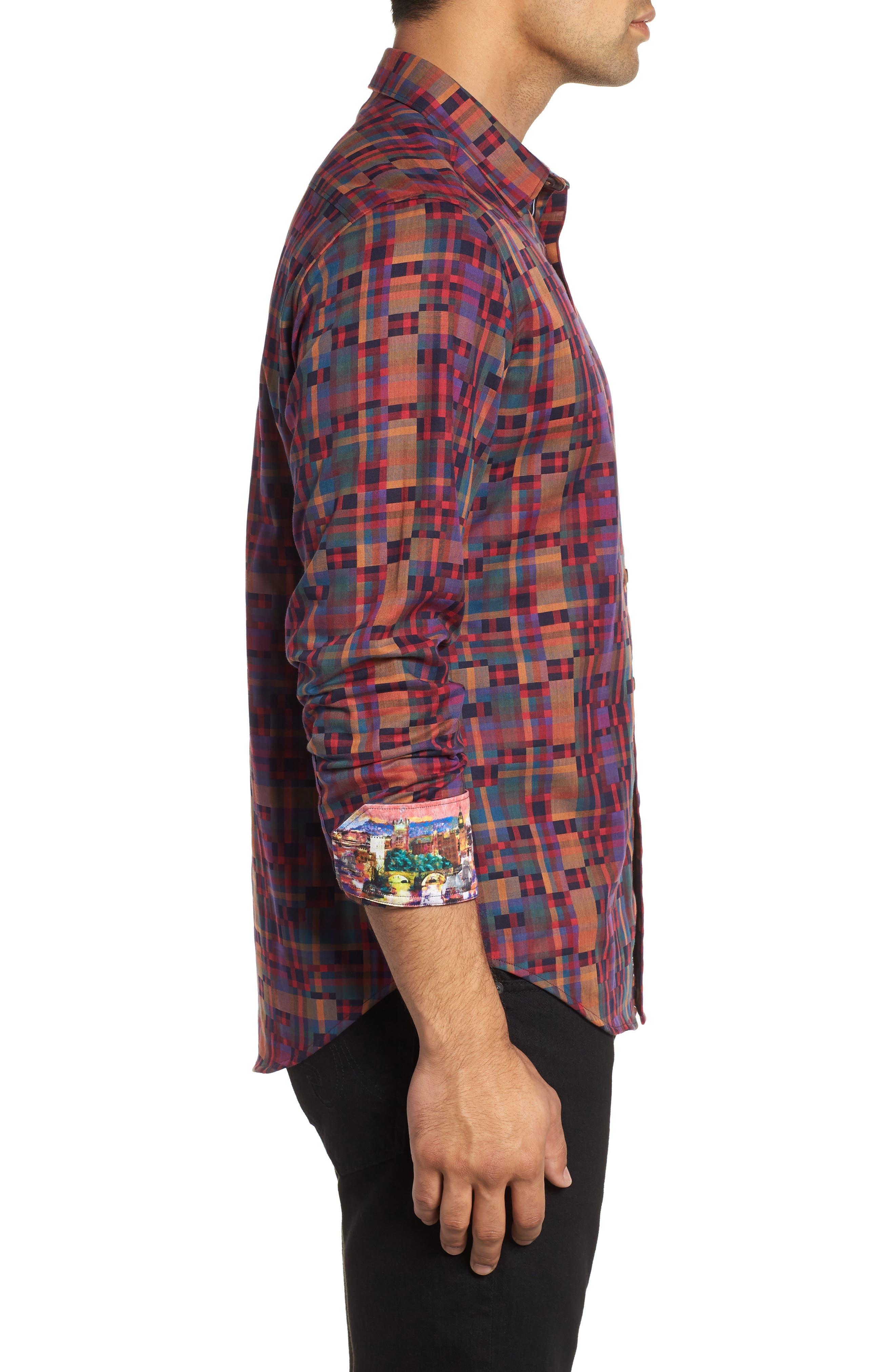 Nash Classic Fit Sport Shirt,                             Alternate thumbnail 4, color,                             MULTI