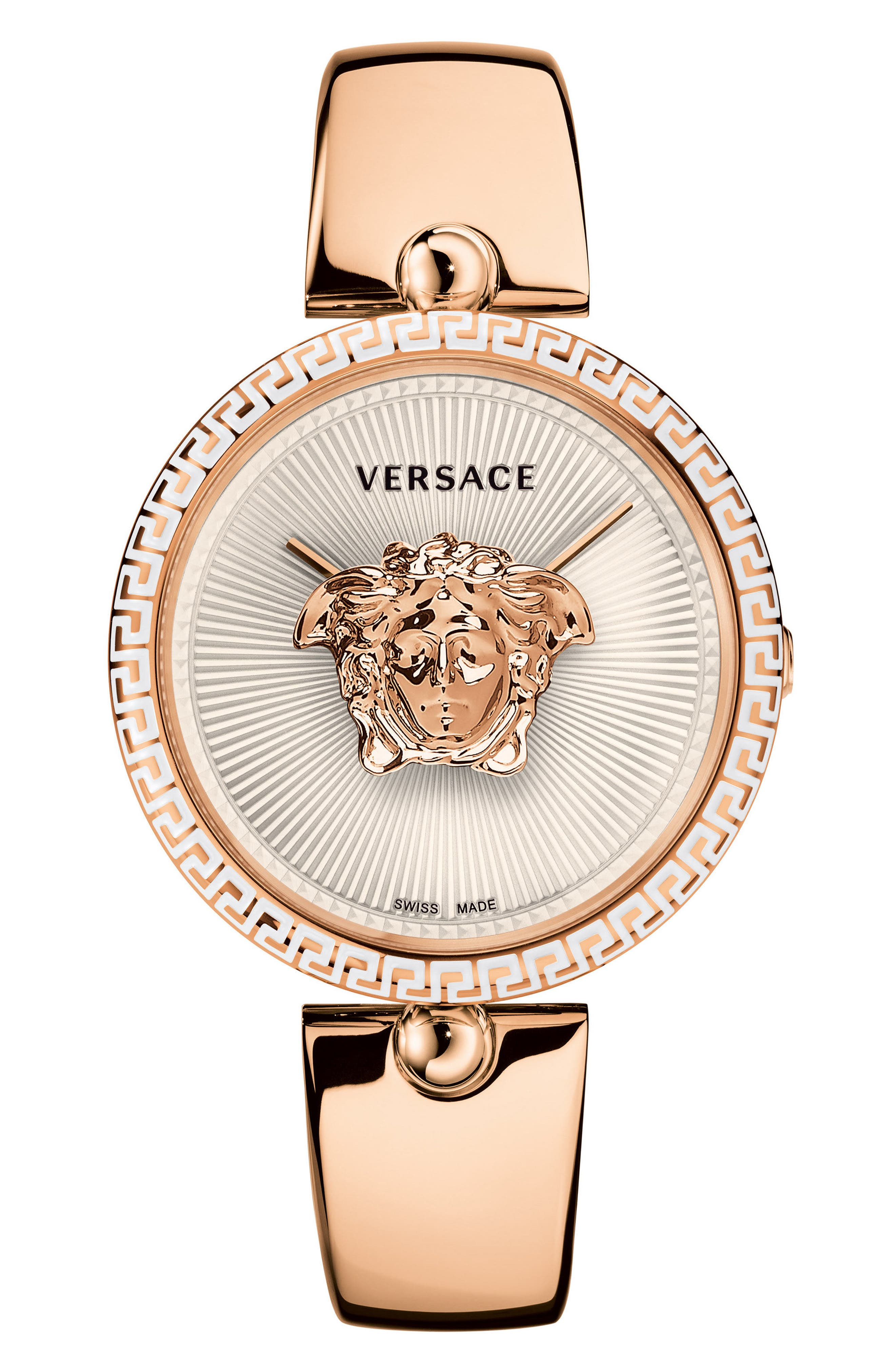 Palazzo Bangle Bracelet Watch, 39mm,                         Main,                         color, ROSE GOLD/ WHITE/ ROSE GOLD