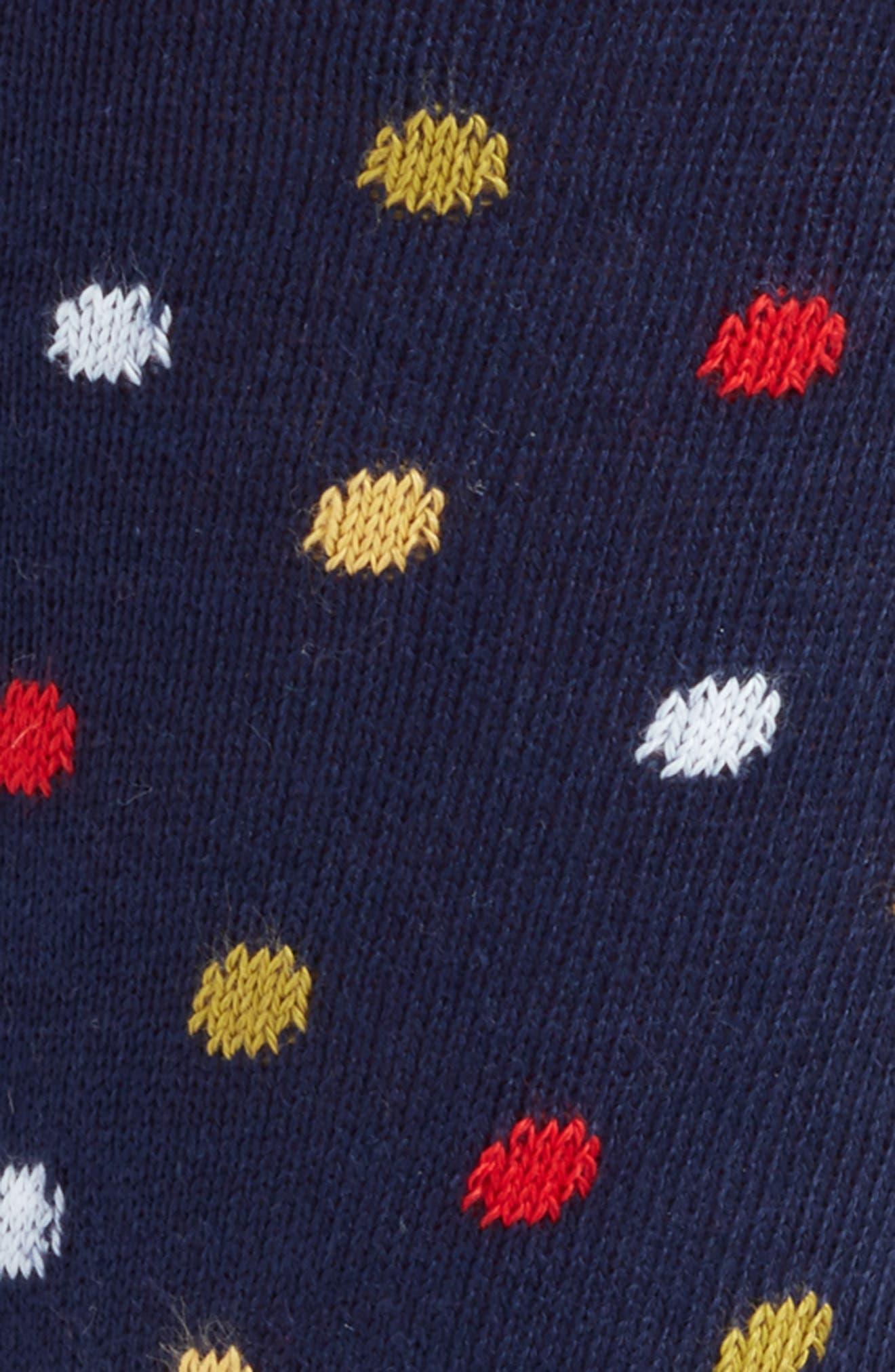 Multi Mixer Dot Crew Socks,                             Alternate thumbnail 4, color,