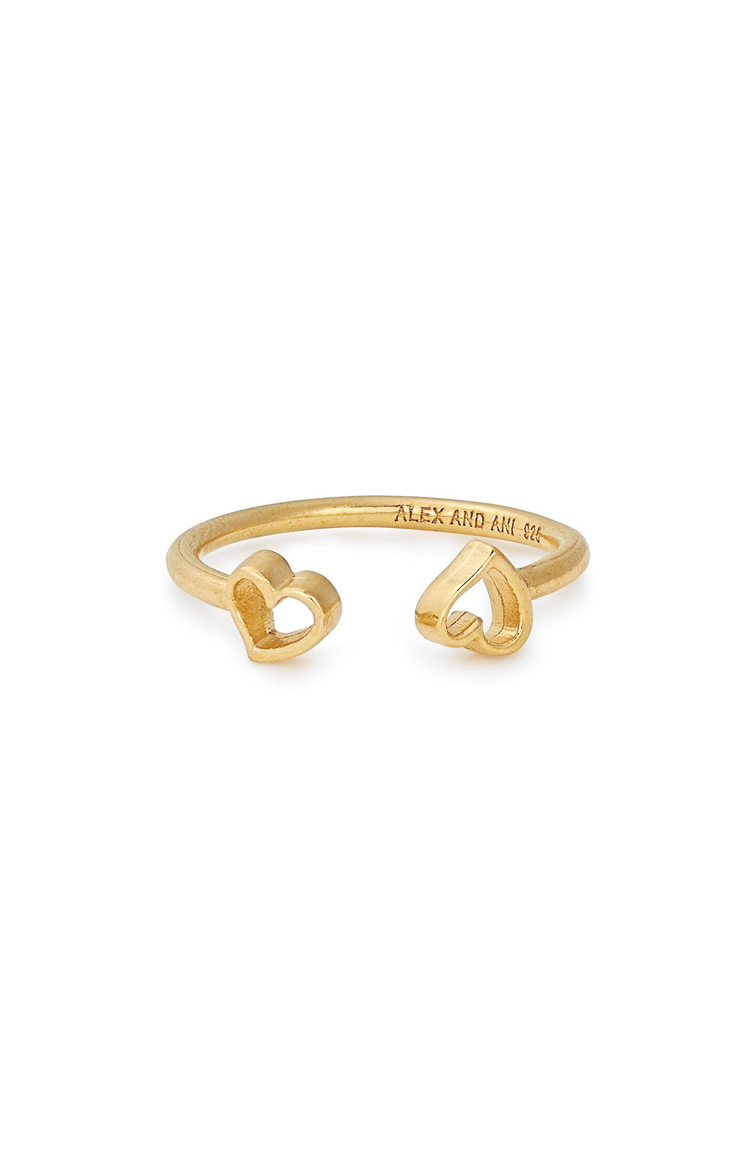 Heart Cuff Ring,                             Main thumbnail 1, color,