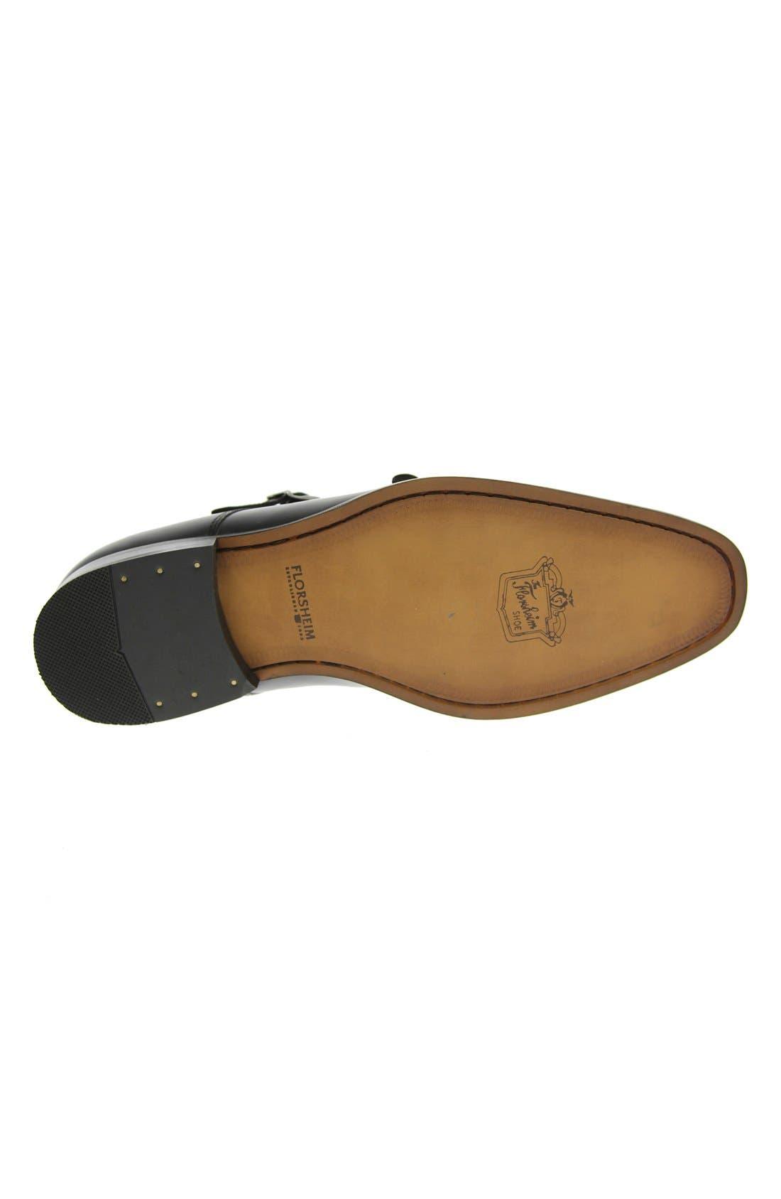 'Sabato' Double Monk Strap Shoe,                             Alternate thumbnail 5, color,                             001