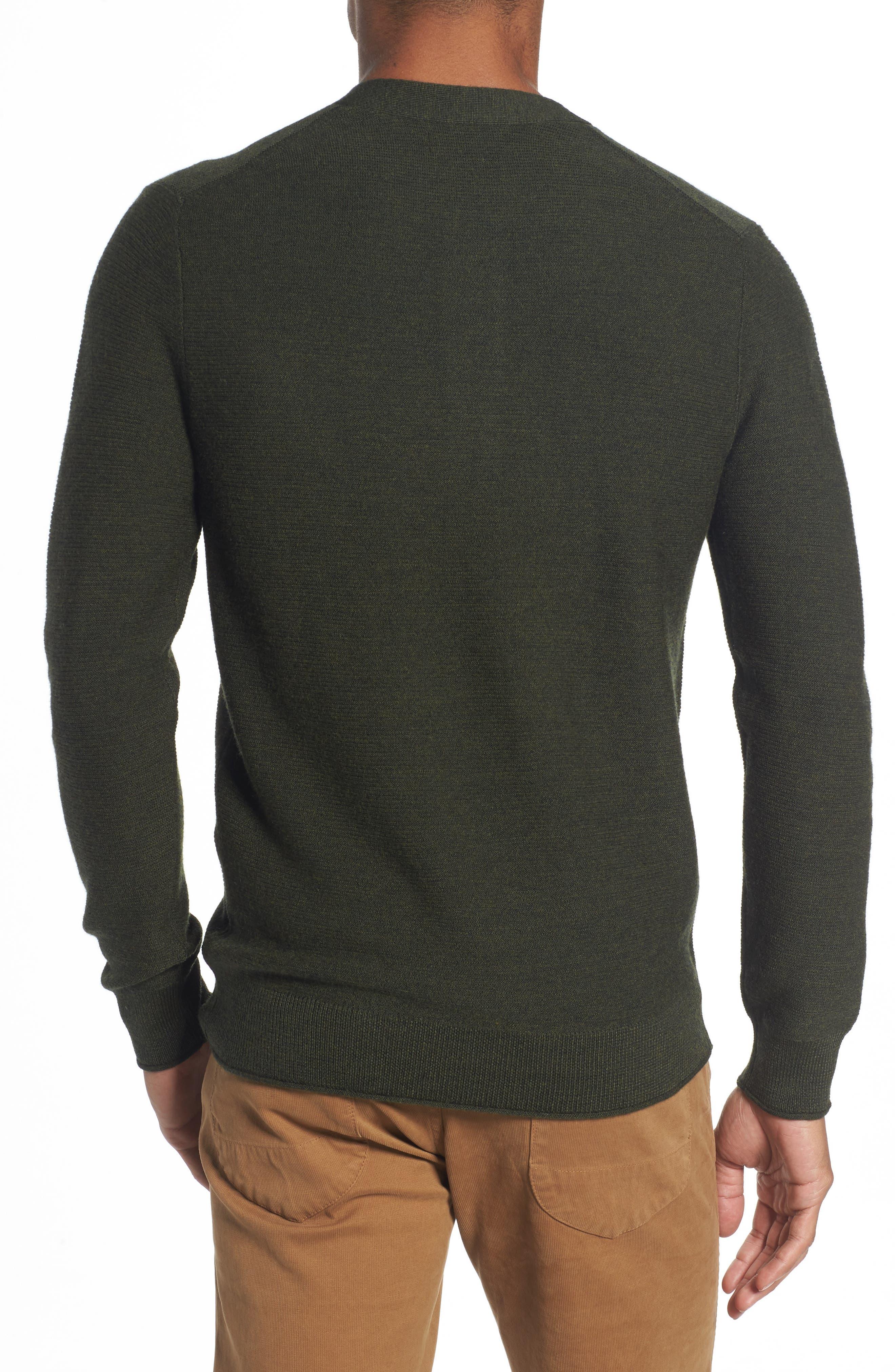 Slim Fit Merino Long Sleeve Henley Sweater,                             Alternate thumbnail 2, color,                             300
