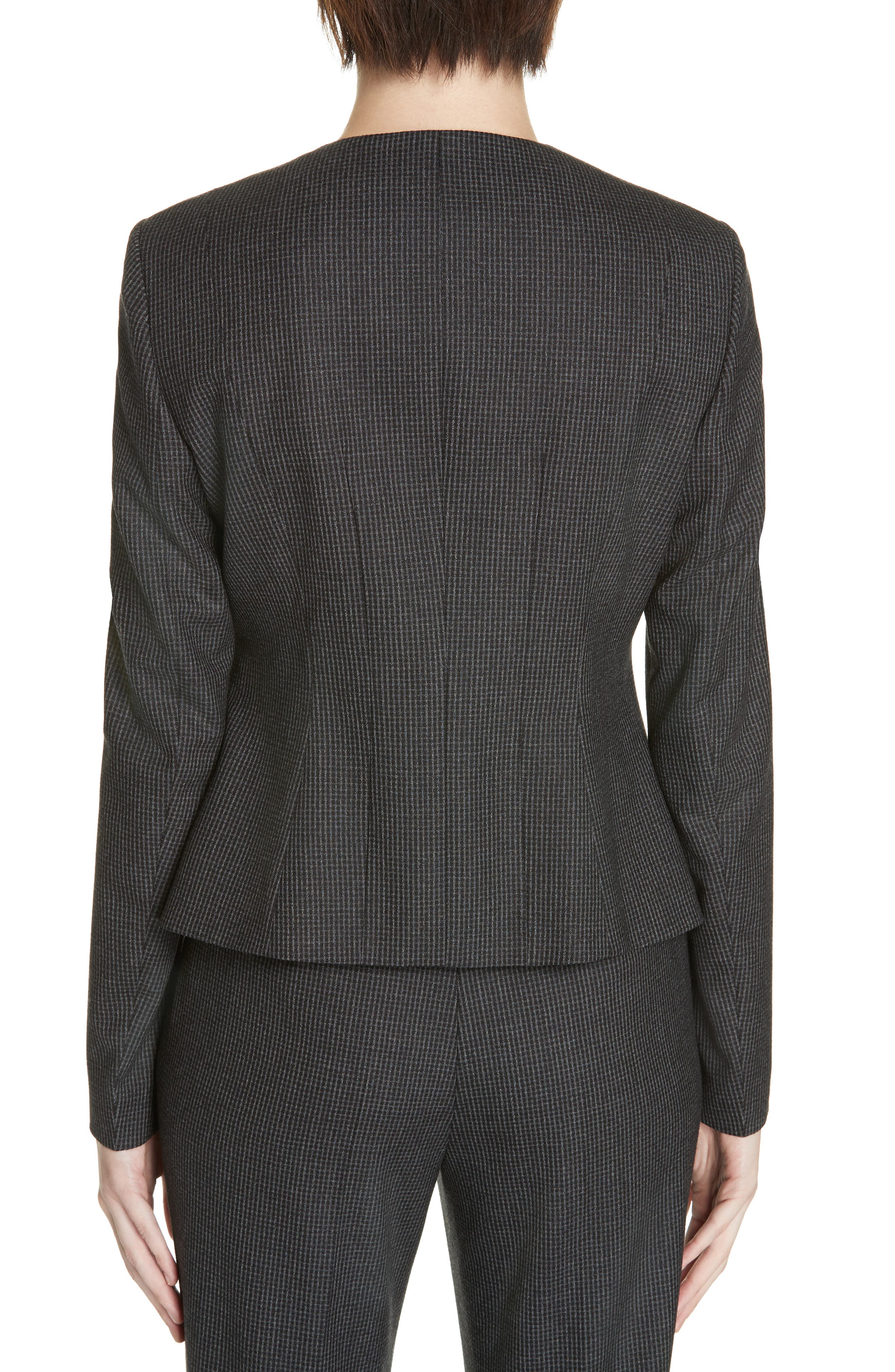 Javilla Wool Suit Jacket,                             Alternate thumbnail 2, color,                             CHARCOAL FANTASY
