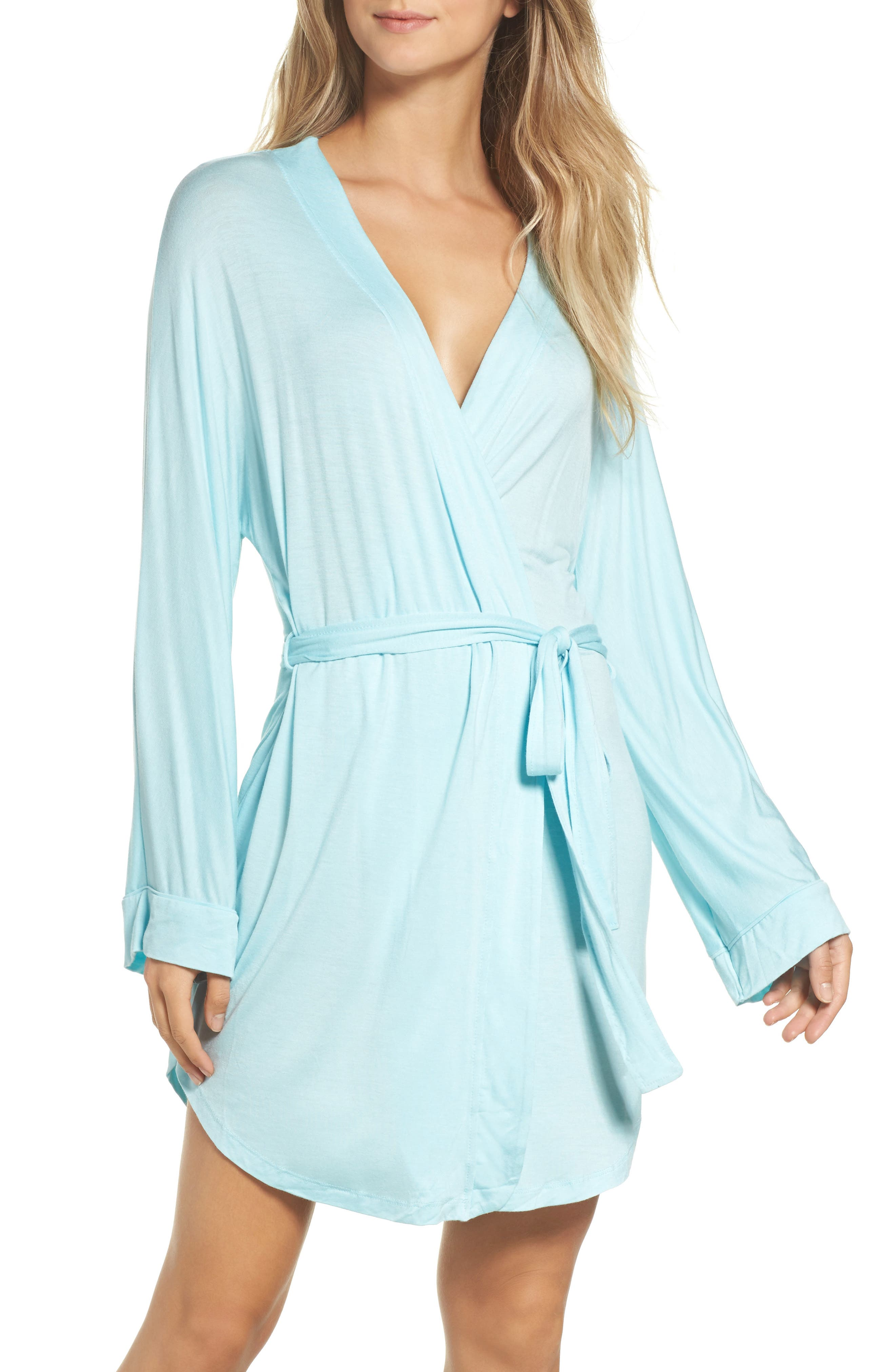All American Jersey Robe,                             Main thumbnail 1, color,                             SOMETHING BLUE